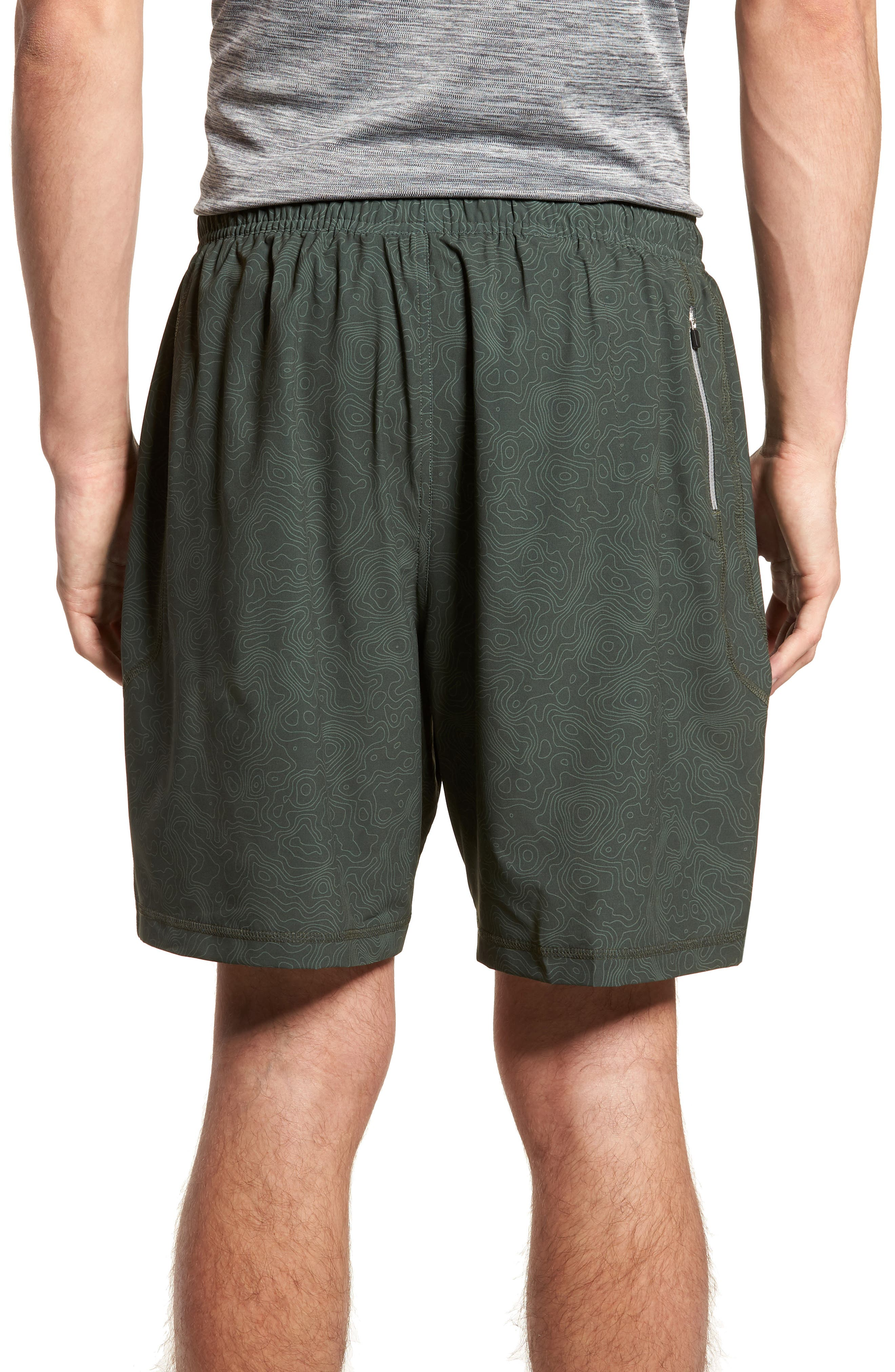 Propulsion Athletic Shorts,                             Alternate thumbnail 2, color,                             Topography