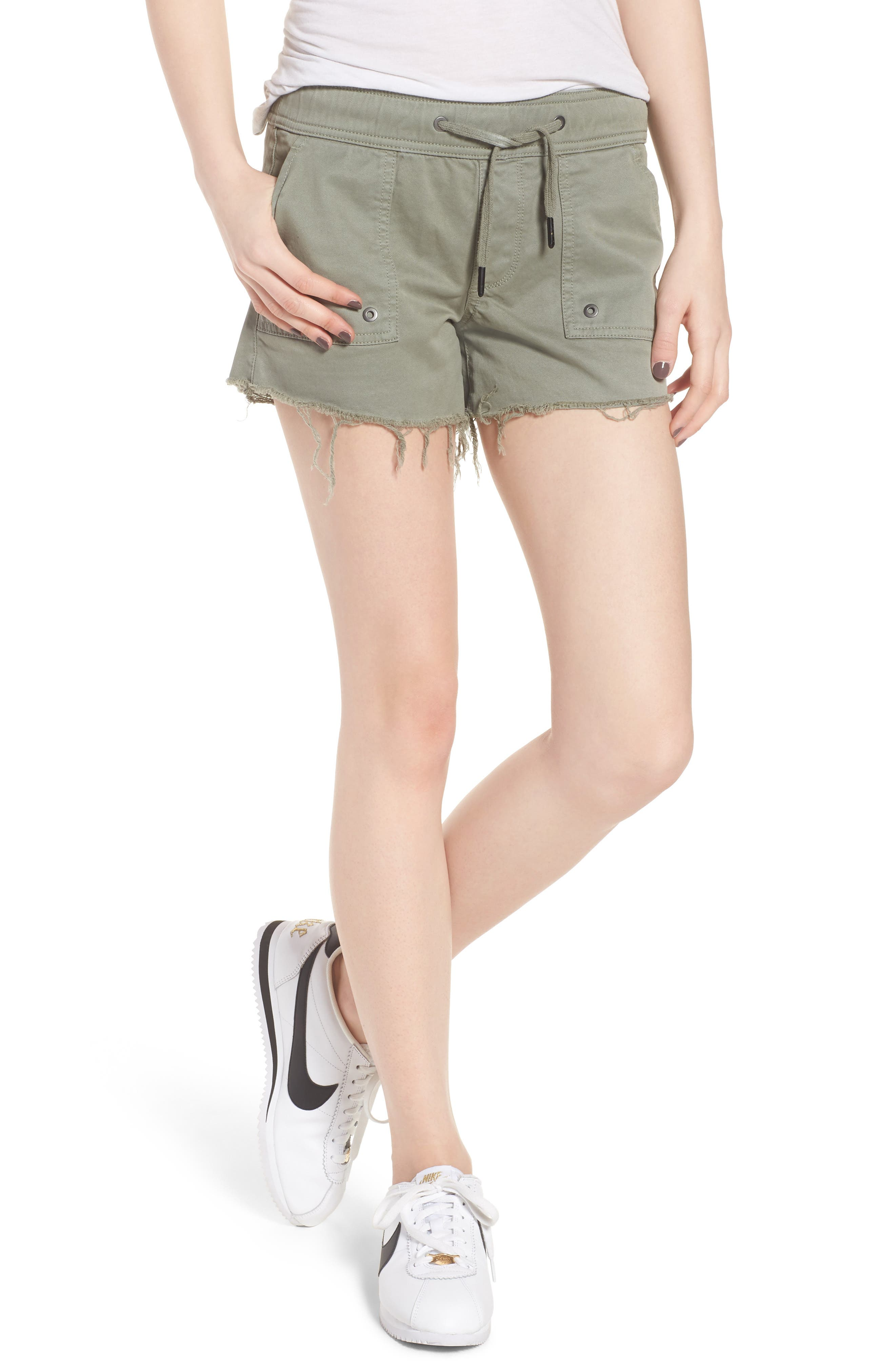 Flynn Low Rise Military Shorts,                             Main thumbnail 1, color,                             Grove