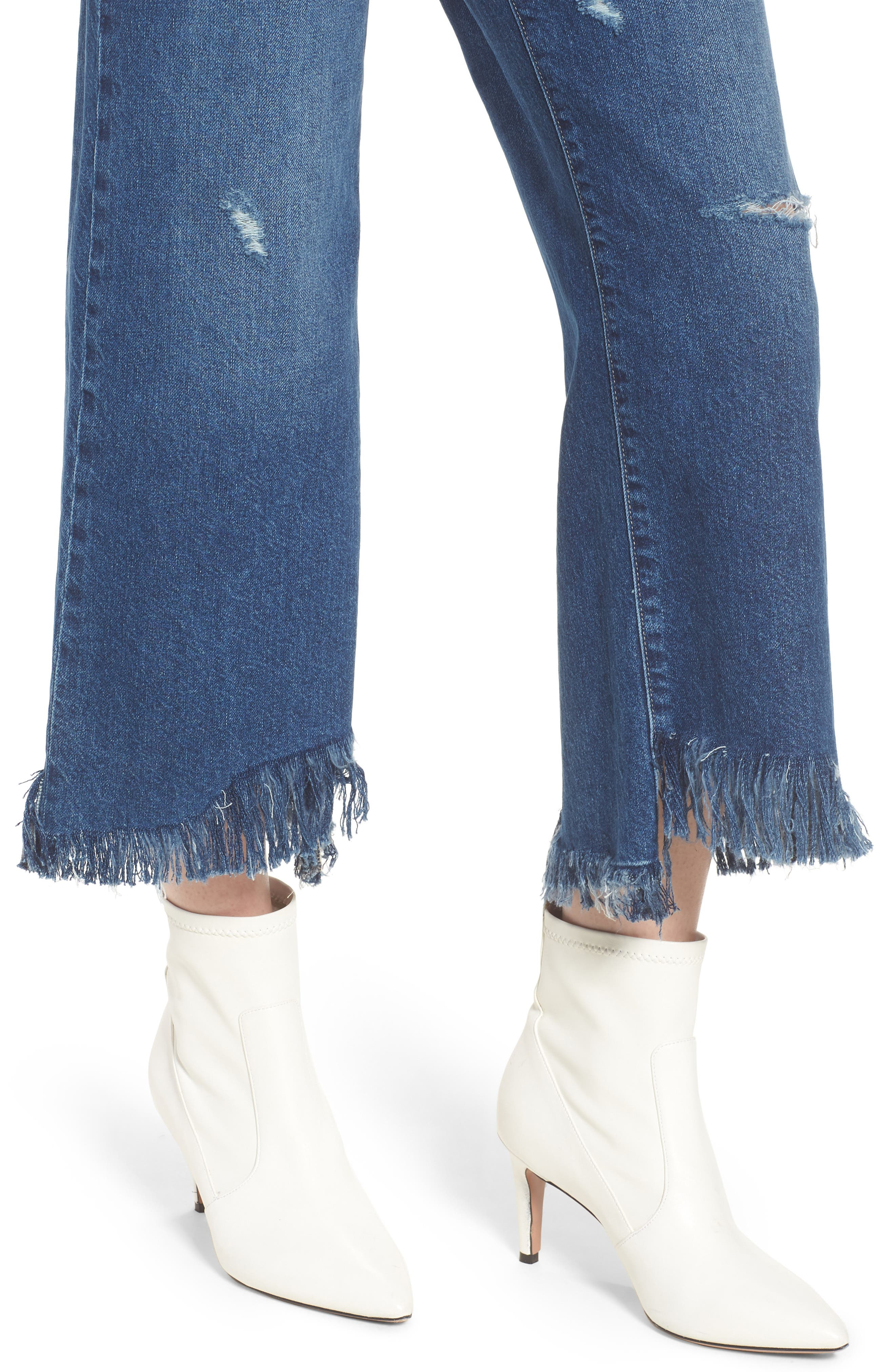 Hepburn High Waist Wide Leg Jeans,                             Alternate thumbnail 4, color,                             Goldfield