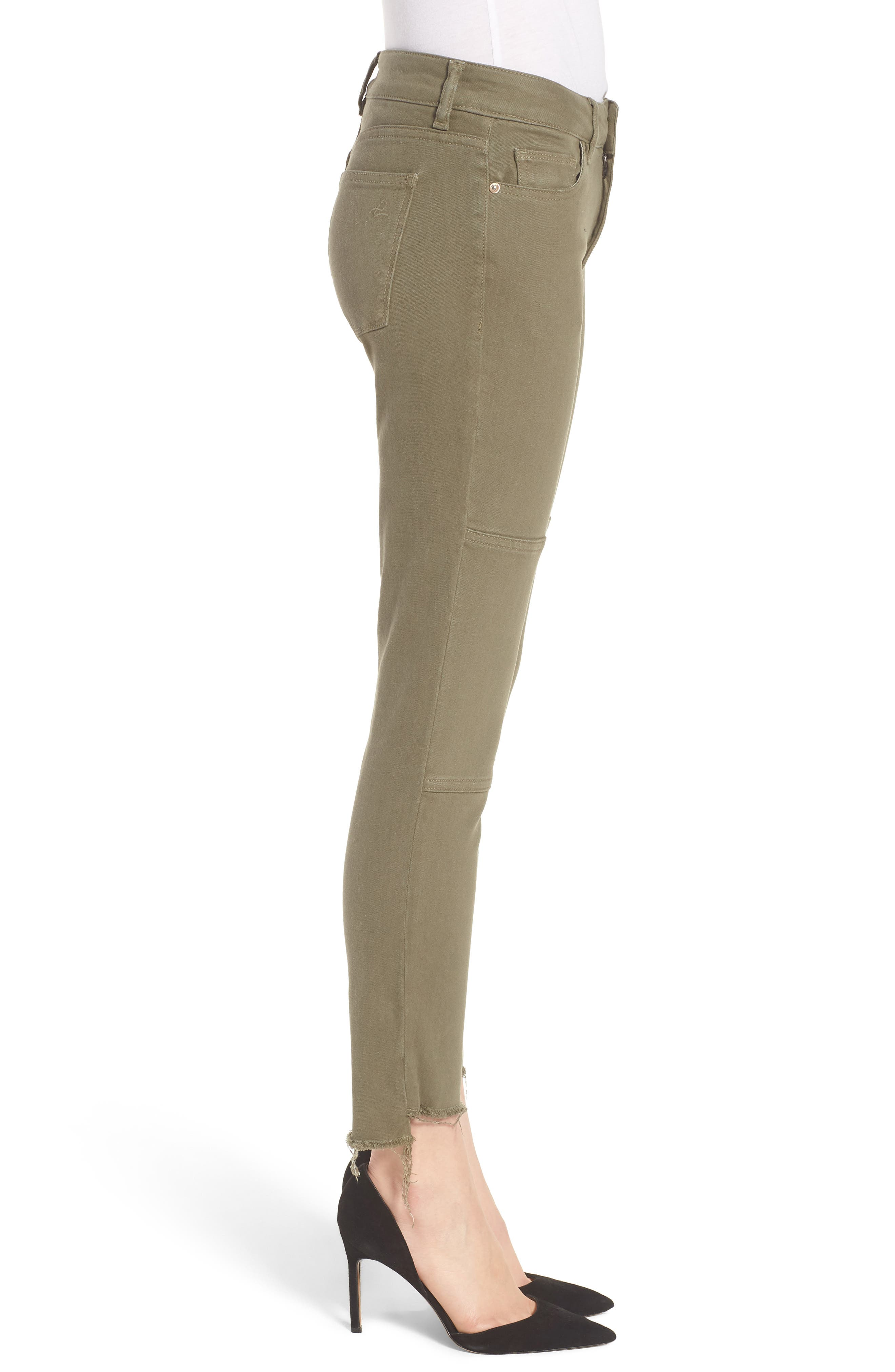 Margaux Instasculpt Ankle Skinny Jeans,                             Alternate thumbnail 3, color,                             Cargo Green
