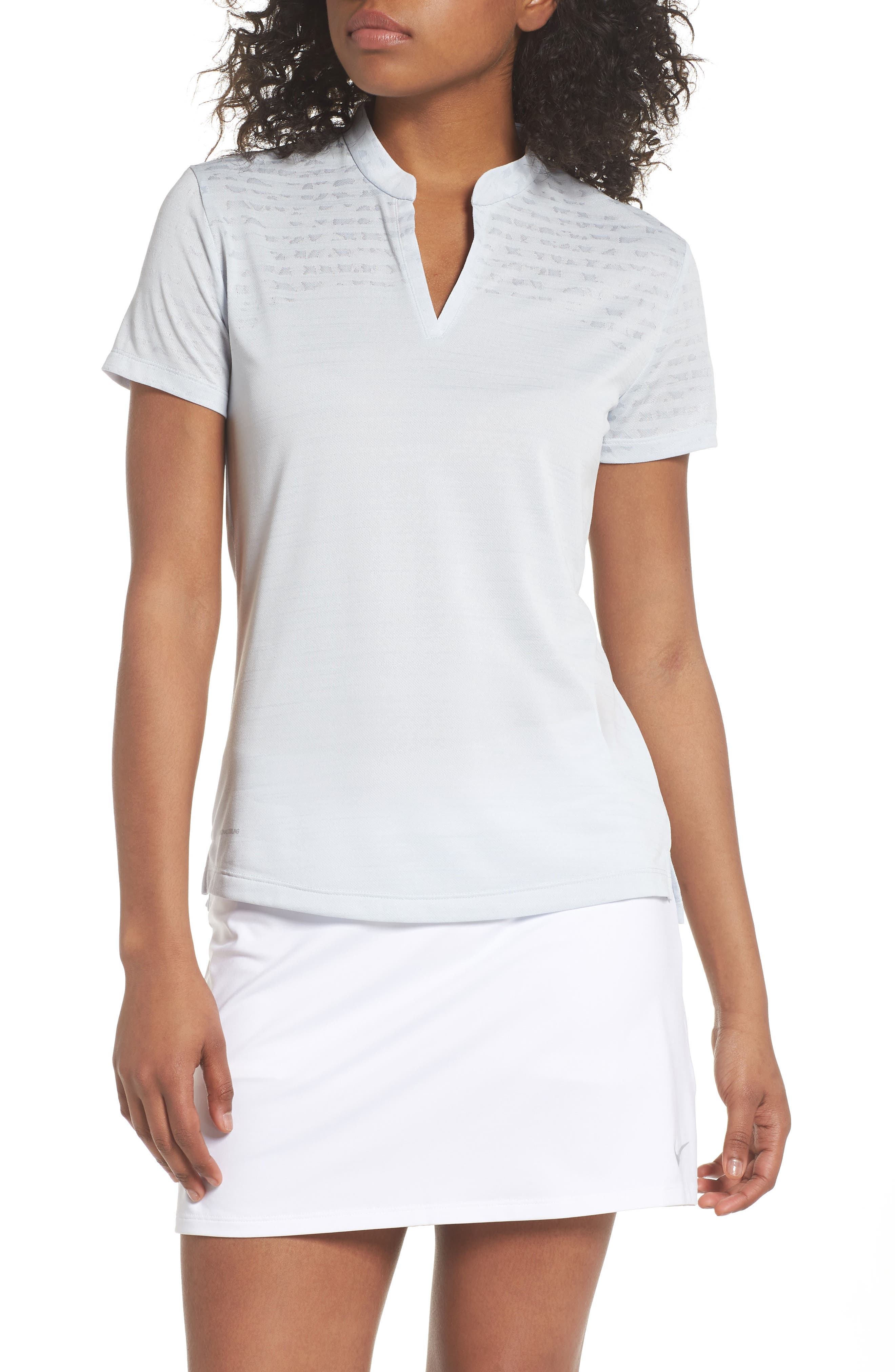 Zonal Cooling Golf Polo,                             Main thumbnail 1, color,                             Pure Platinum/ Silver