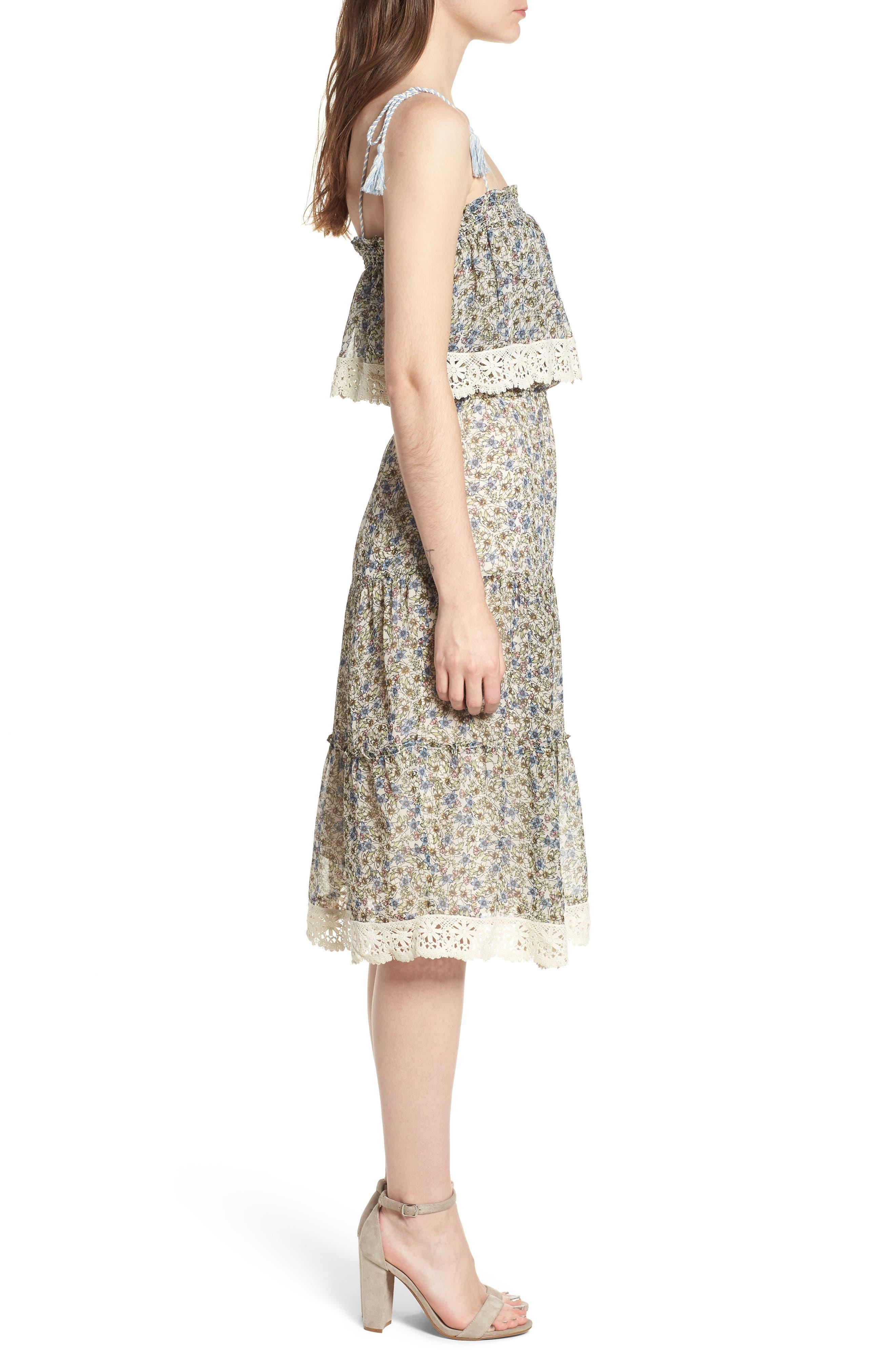 Deda Popover Dress,                             Alternate thumbnail 3, color,                             Oatmeal