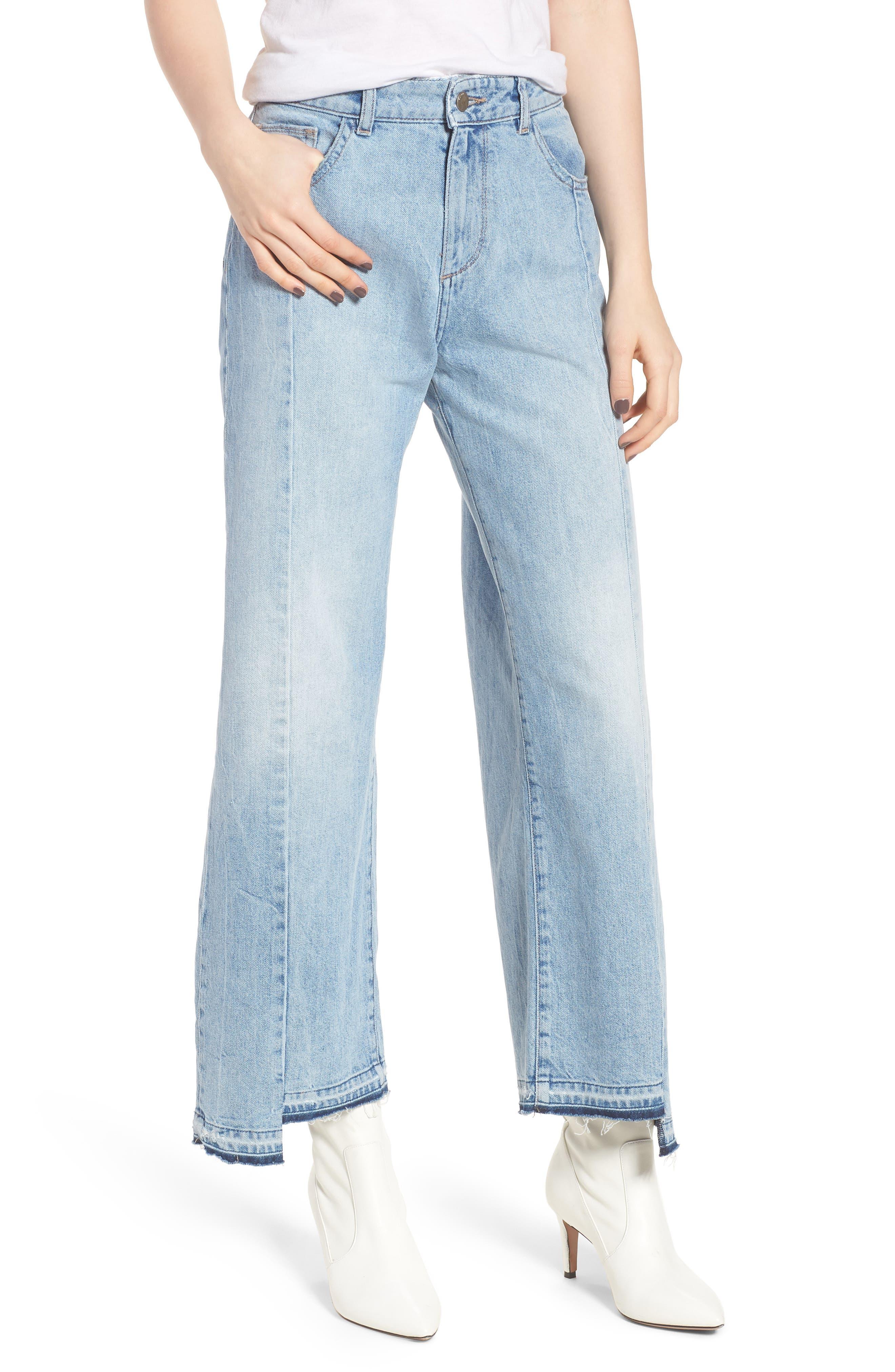 Hepburn High Waist Wide Leg Jeans,                         Main,                         color, Oldtown