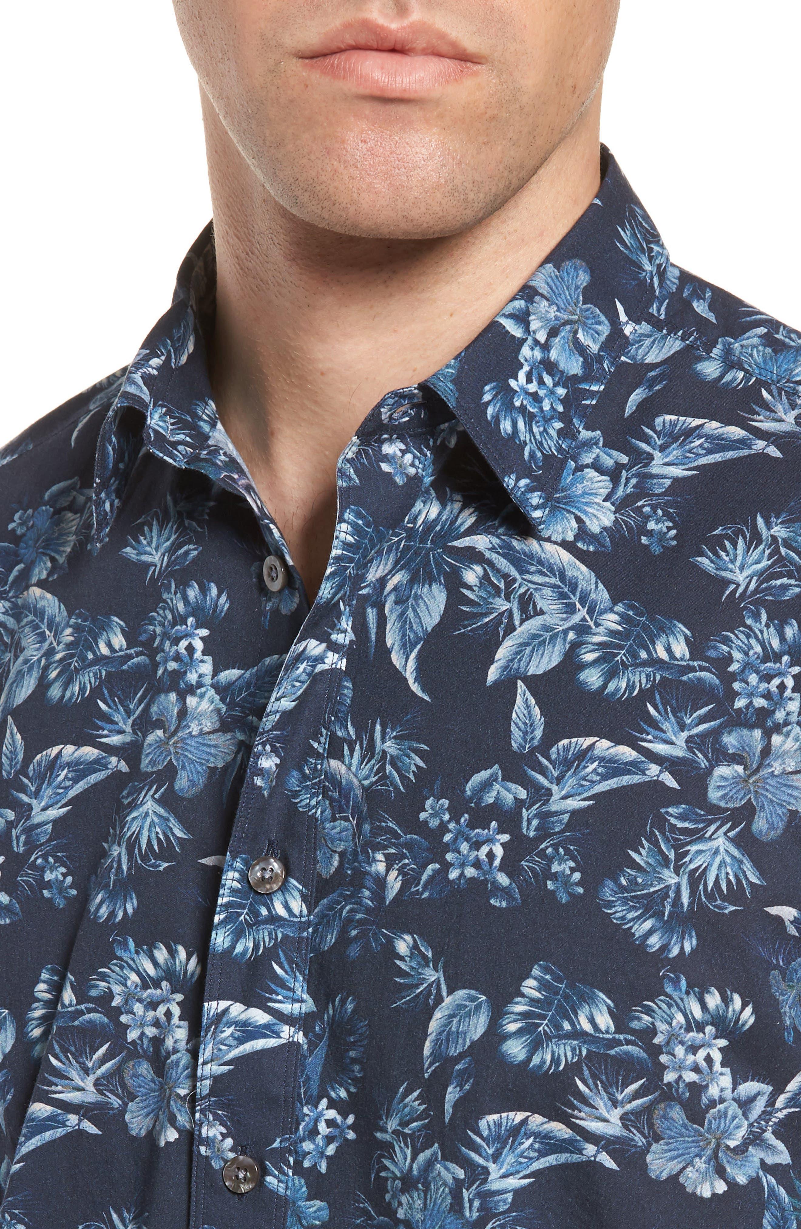 Califoras Regular Fit Print Sport Shirt,                             Alternate thumbnail 2, color,                             Navy