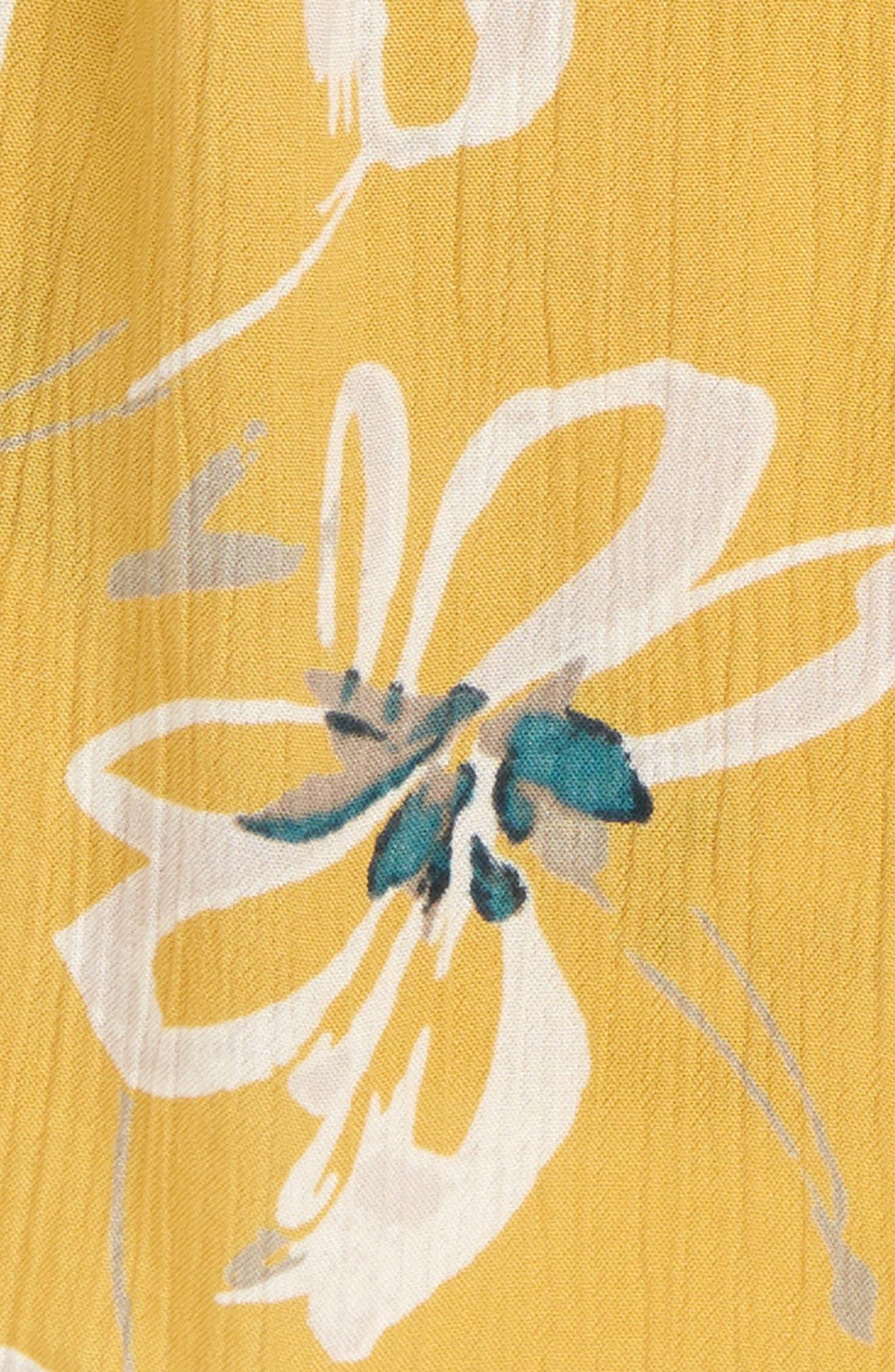 Taylen Floral Tank,                             Alternate thumbnail 2, color,                             Goldie