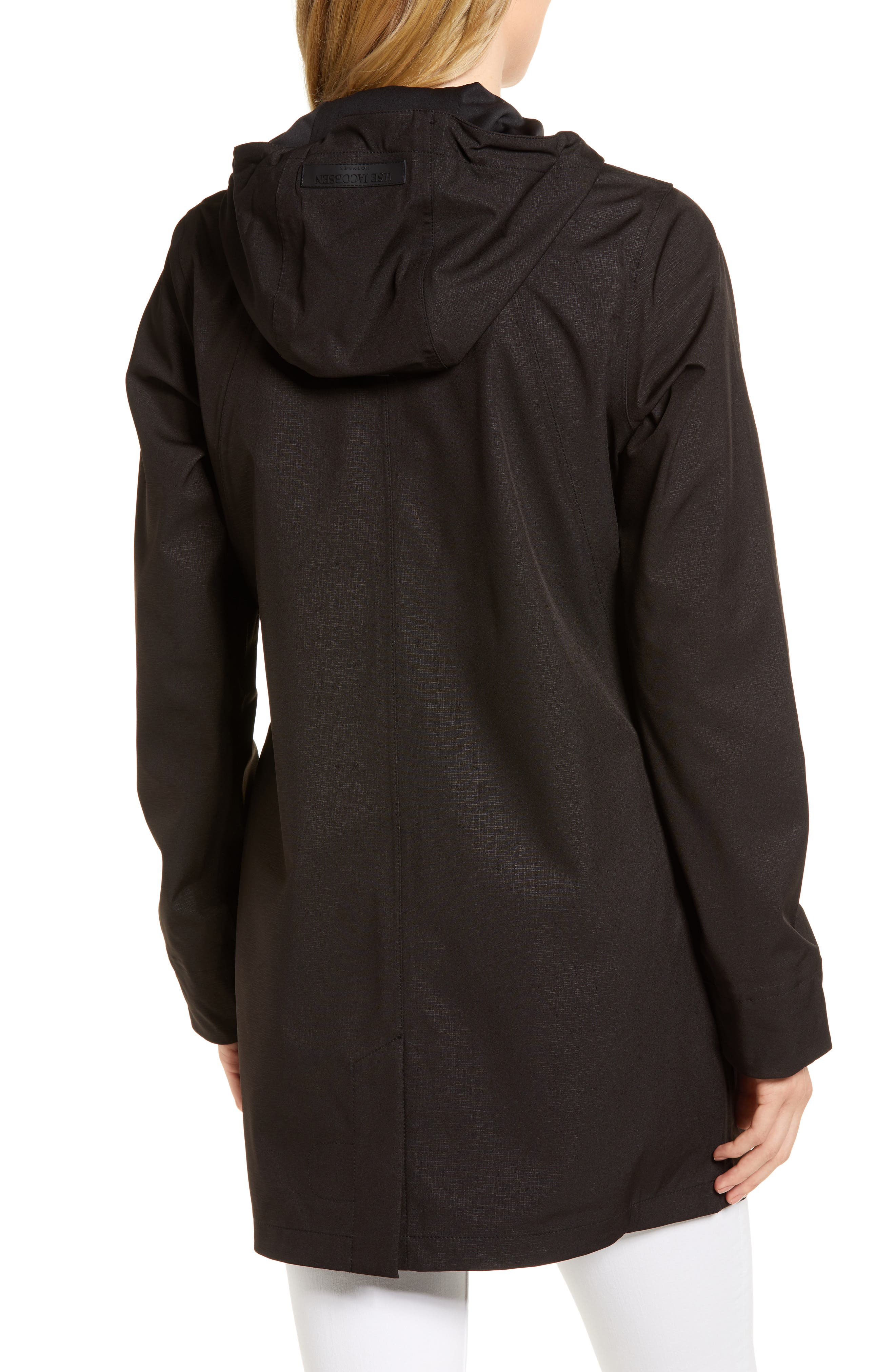 Soft Shell Raincoat,                             Alternate thumbnail 2, color,                             Black