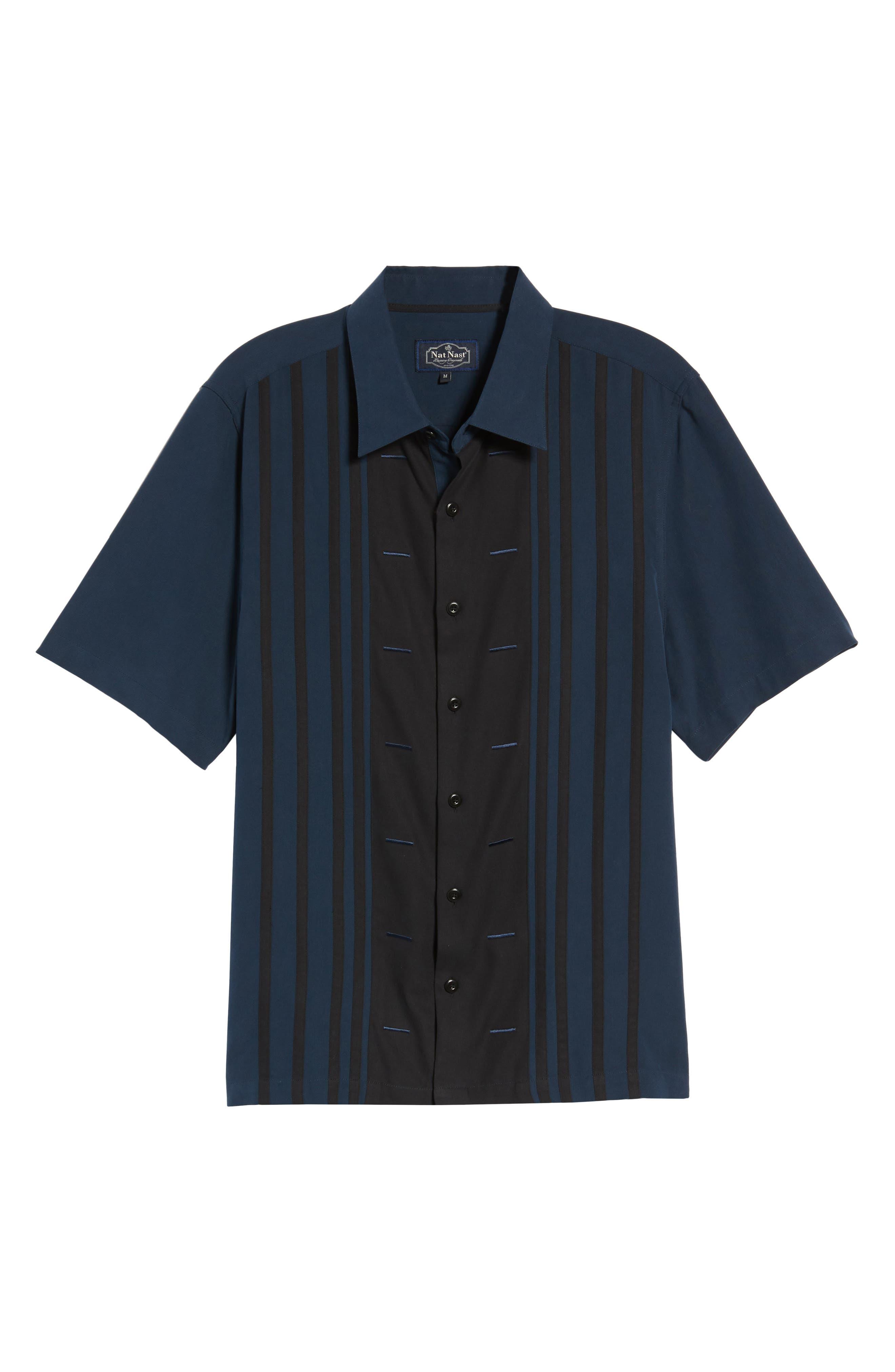 Key Best Camp Shirt,                             Alternate thumbnail 6, color,                             Midnight