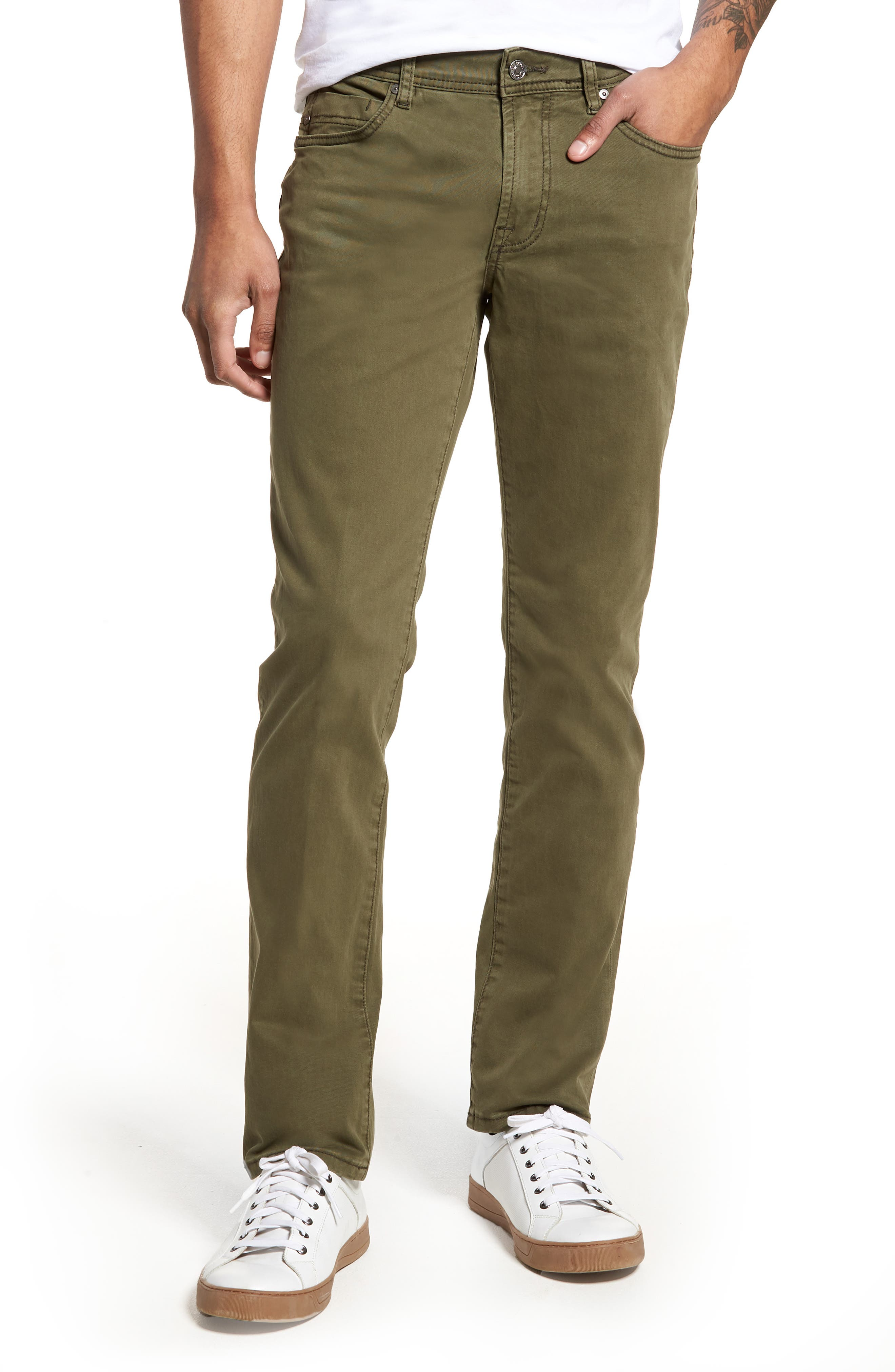 Liverpool Jeans Co. Kingston Slim Straight Leg Jeans (Olive Night)