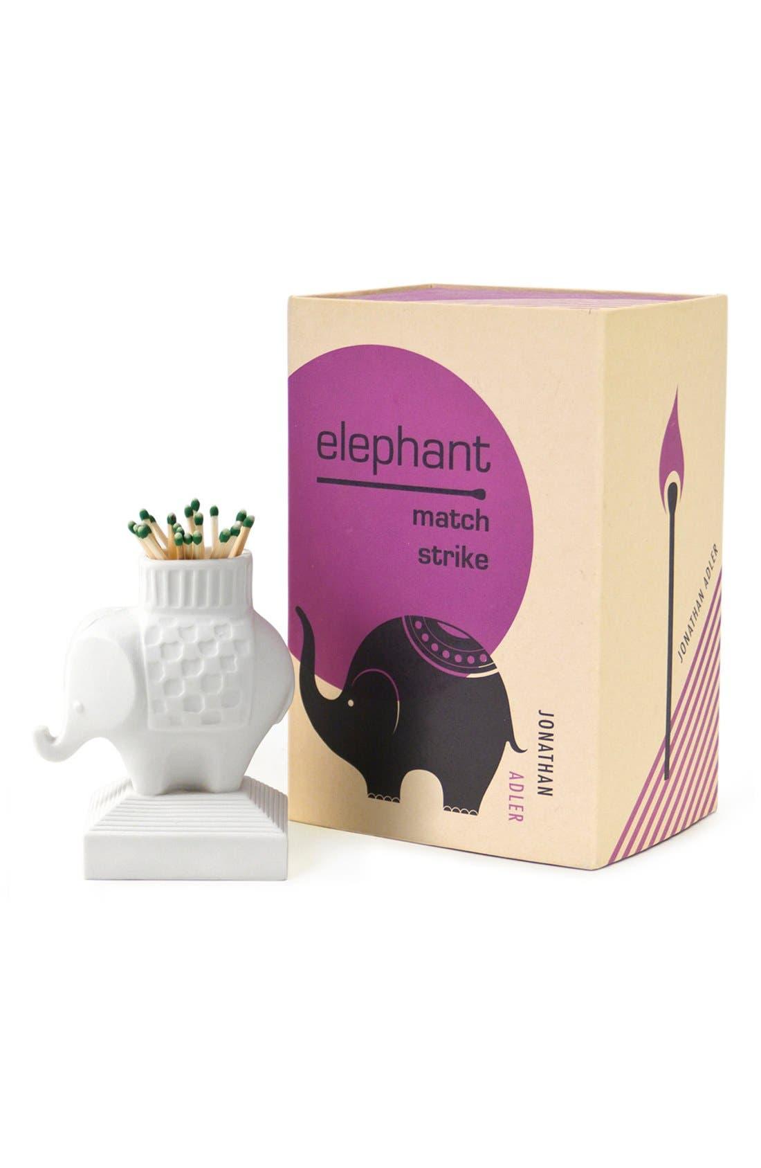 Alternate Image 3  - Jonathan Adler Porcelain Elephant Match Strike