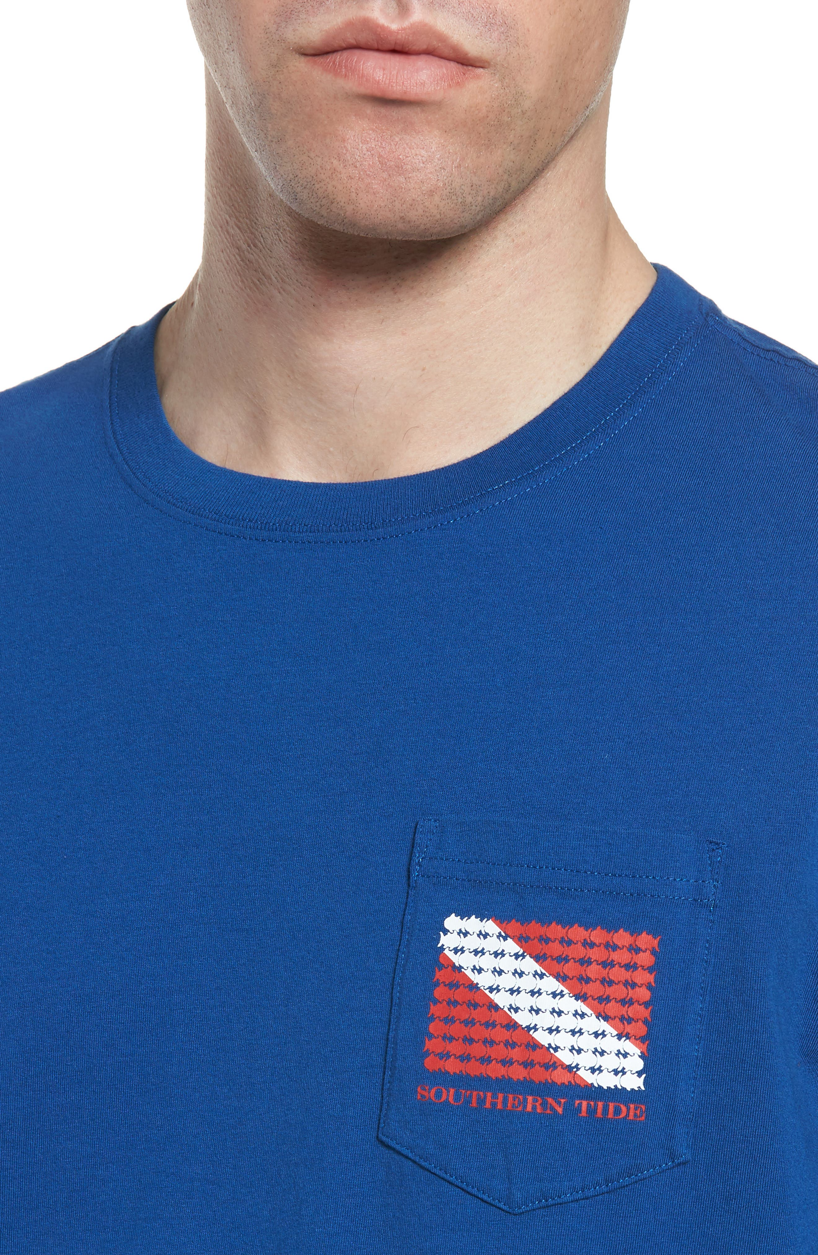 Go Deep Crewneck T-Shirt,                             Alternate thumbnail 4, color,                             Blue Lake