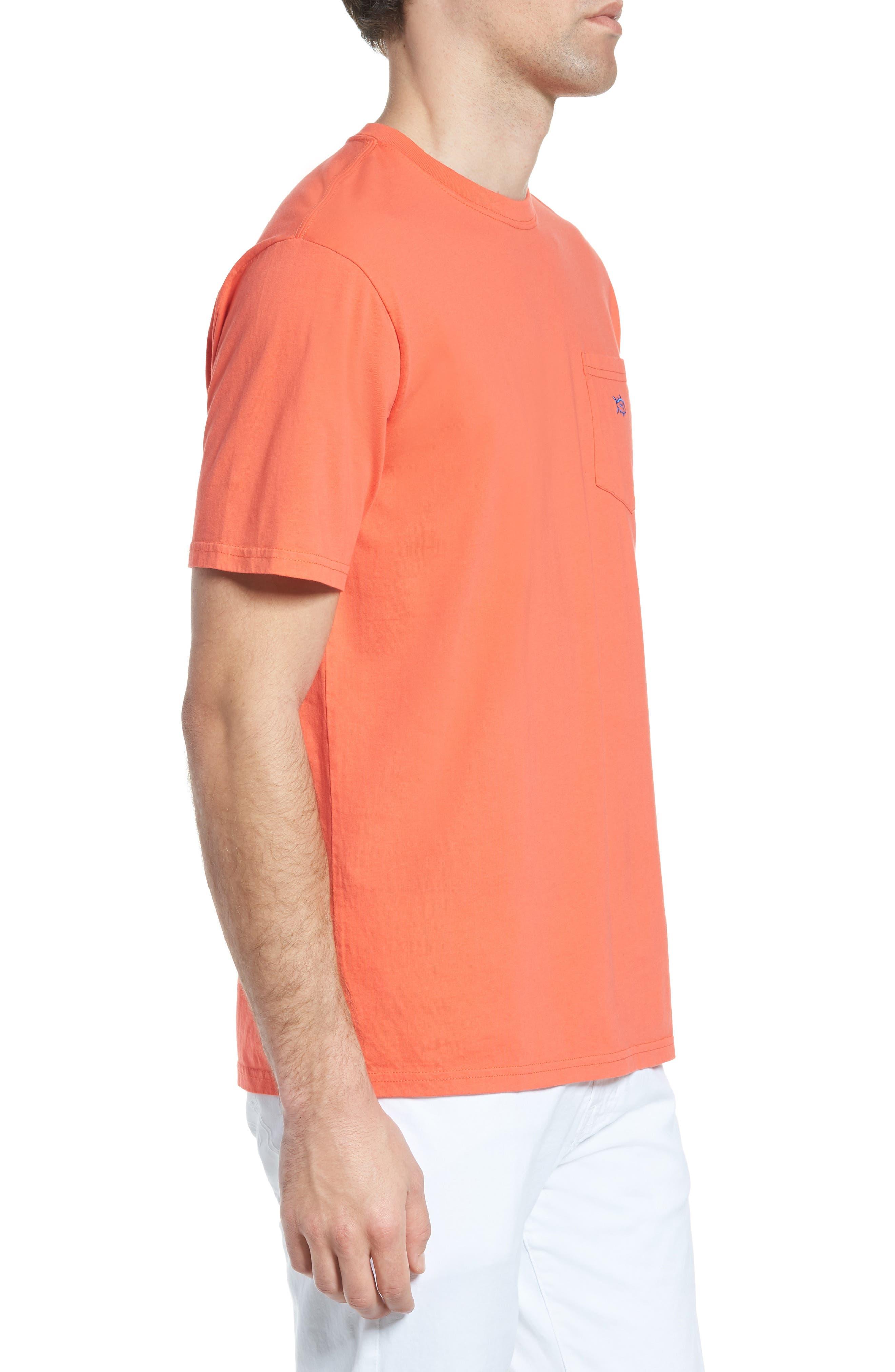 Skipjack Logo Regular Fit T-Shirt,                             Alternate thumbnail 3, color,                             Hot Coral