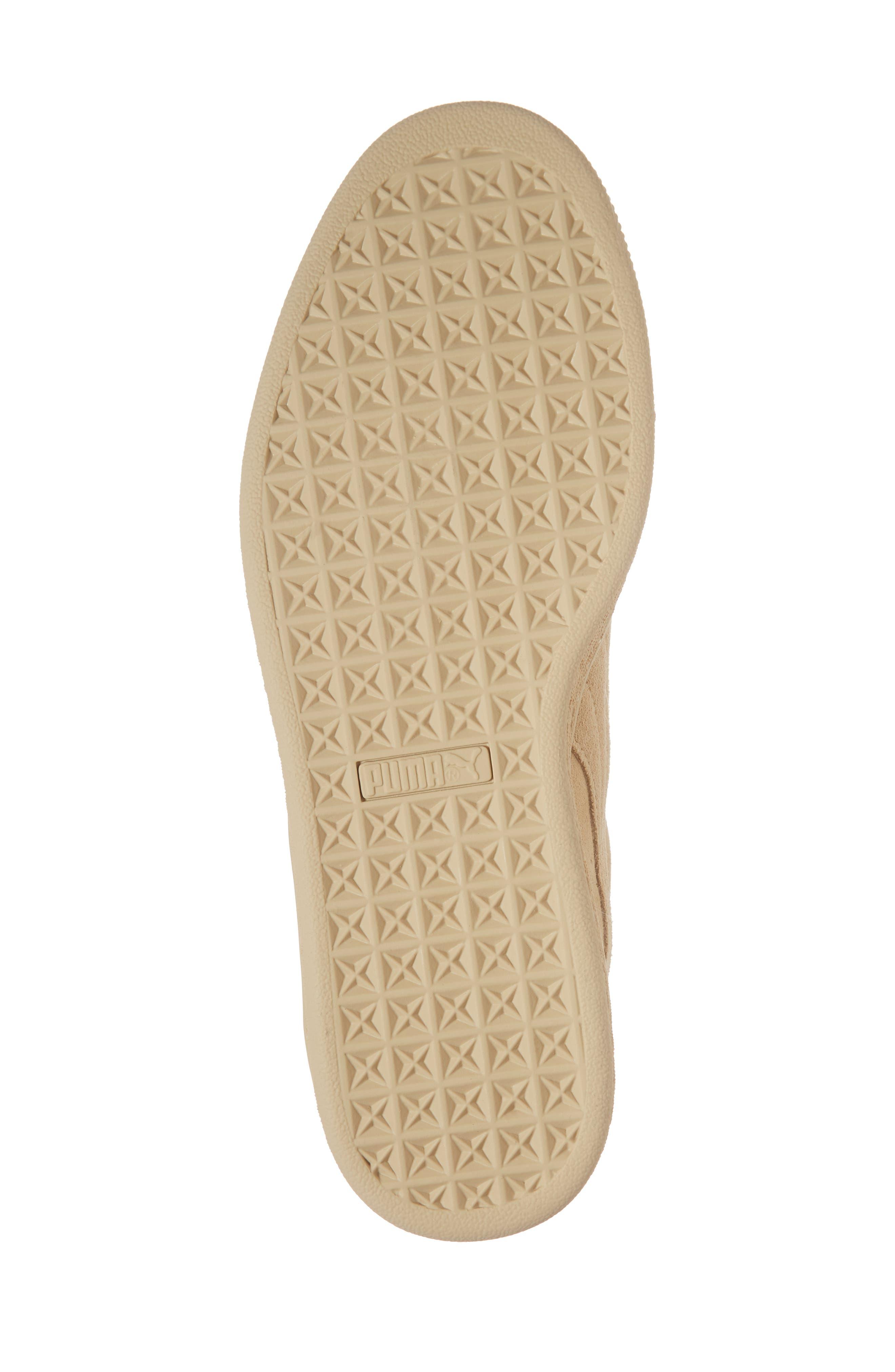 Suede Classic Tonal Sneaker,                             Alternate thumbnail 6, color,                             Pebble Suede