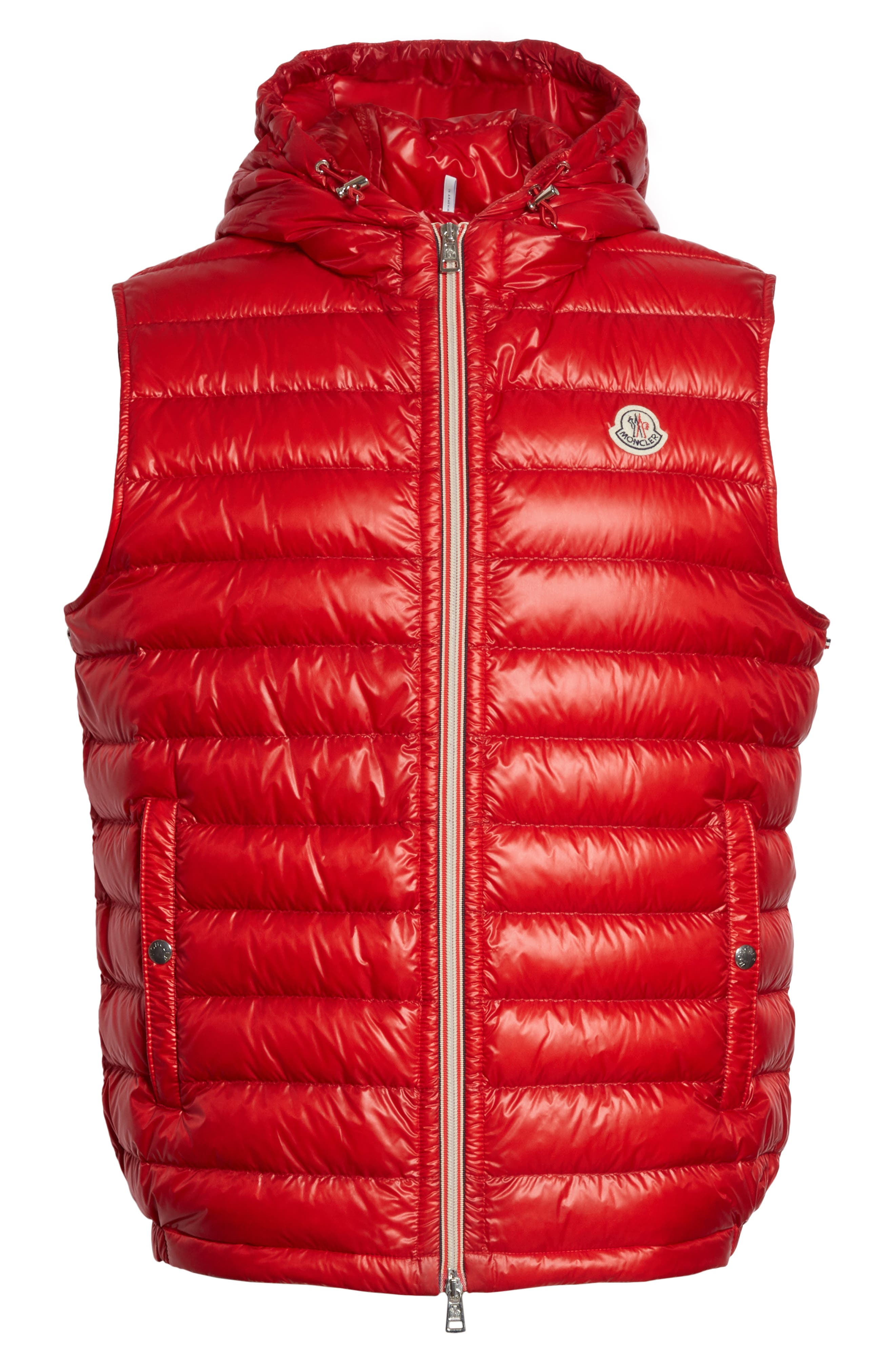 Gien Down Hooded Vest,                             Alternate thumbnail 6, color,                             Dark Red