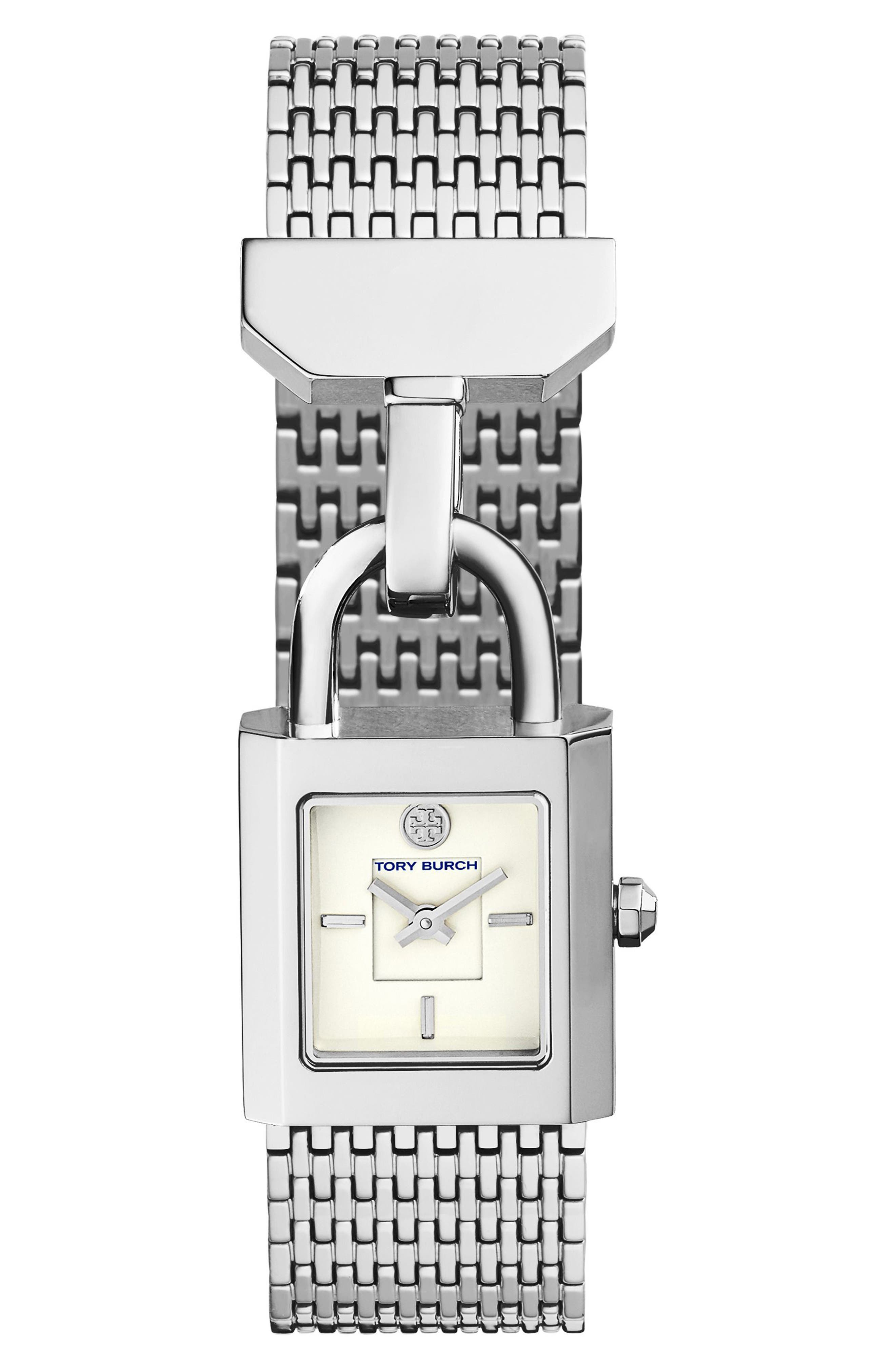 Main Image - Tory Burch Surrey Mesh Bracelet Watch, 22mm x 23.5mm