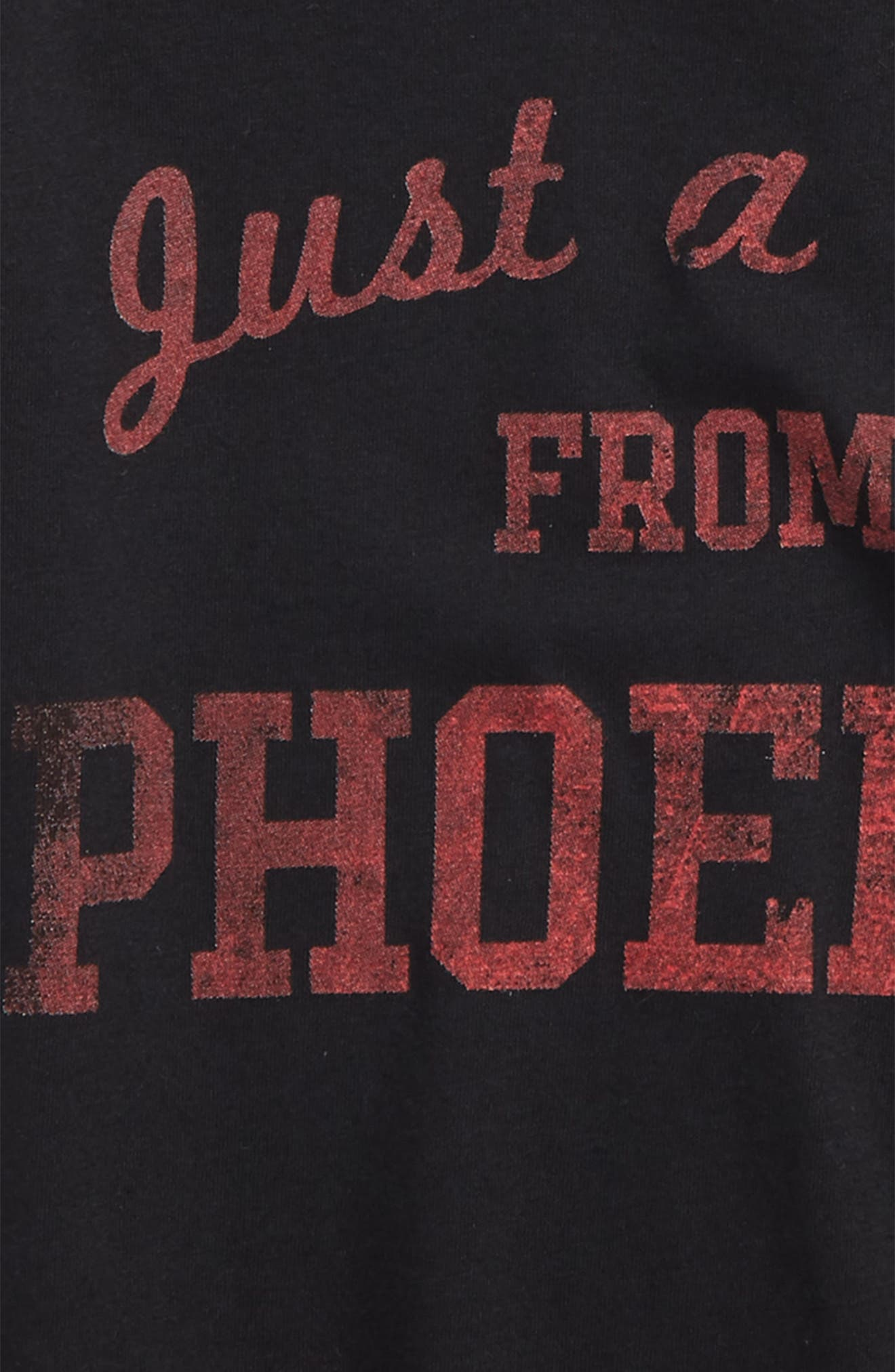 Just a Kid from Phoenix Graphic T-Shirt,                             Alternate thumbnail 2, color,                             Black/ Red