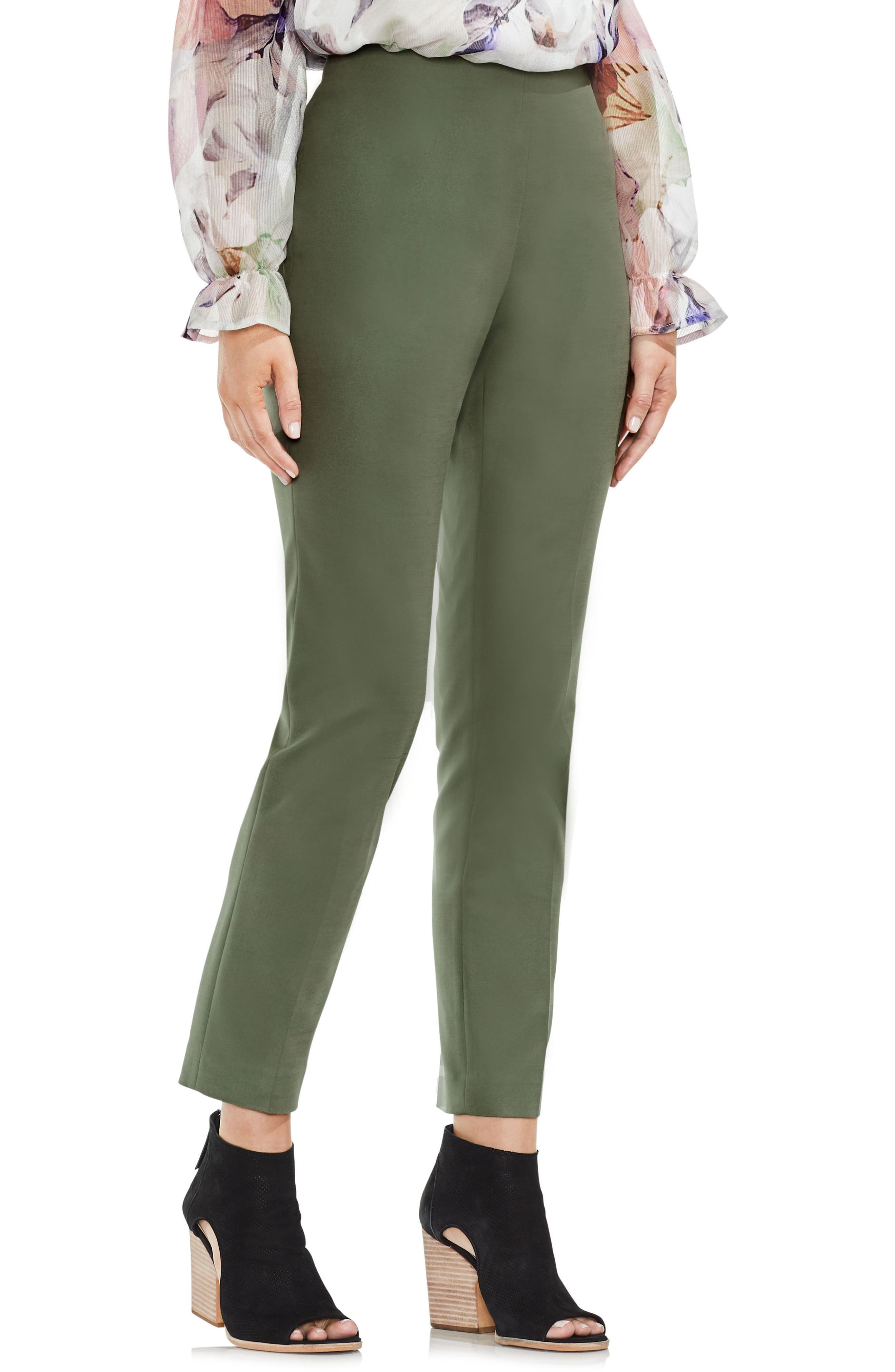 Vince Camuto Side Zip Double Weave Pants