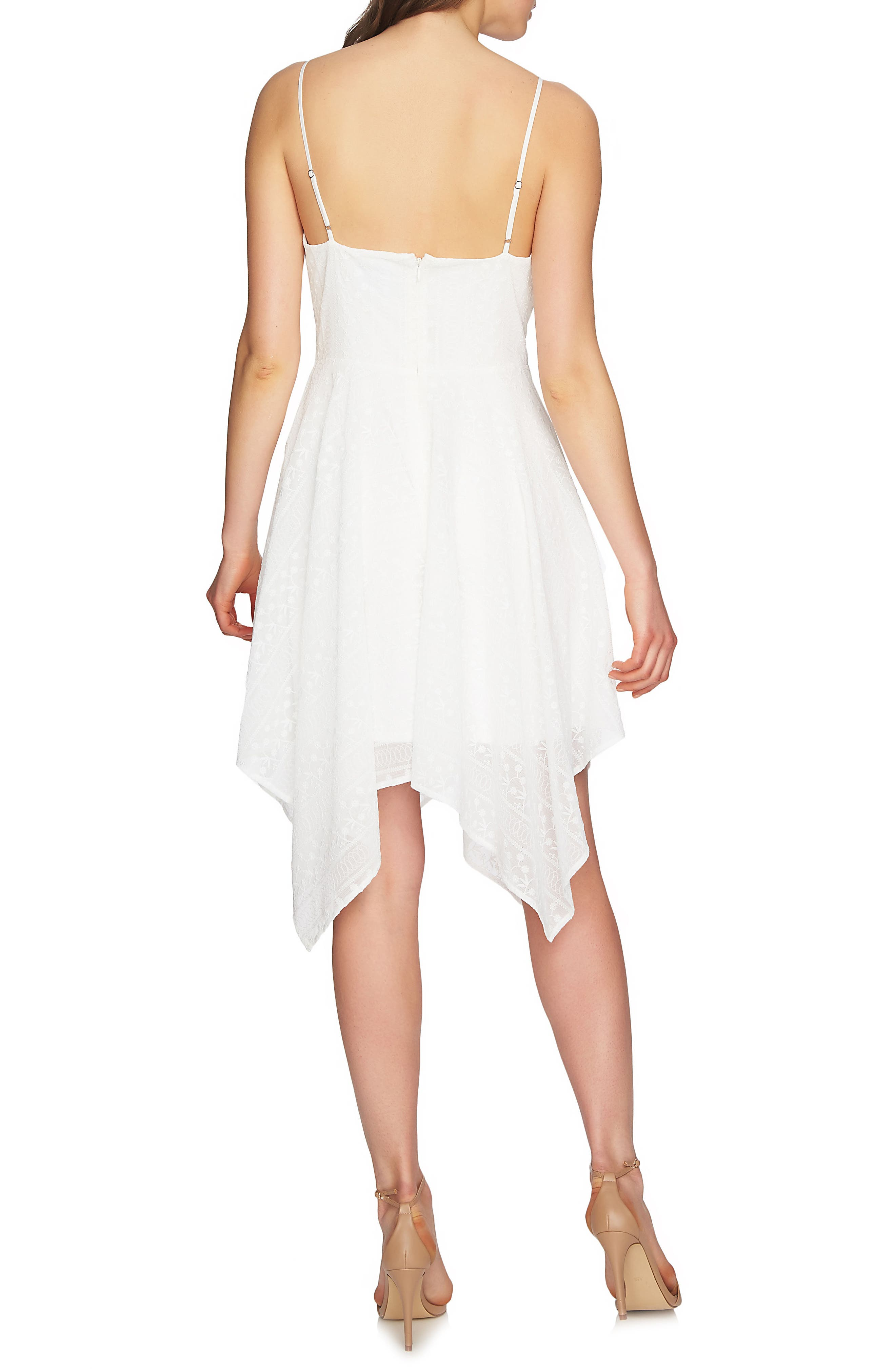 Reese Handkerchief Hem Dress,                             Alternate thumbnail 3, color,                             New Ivory