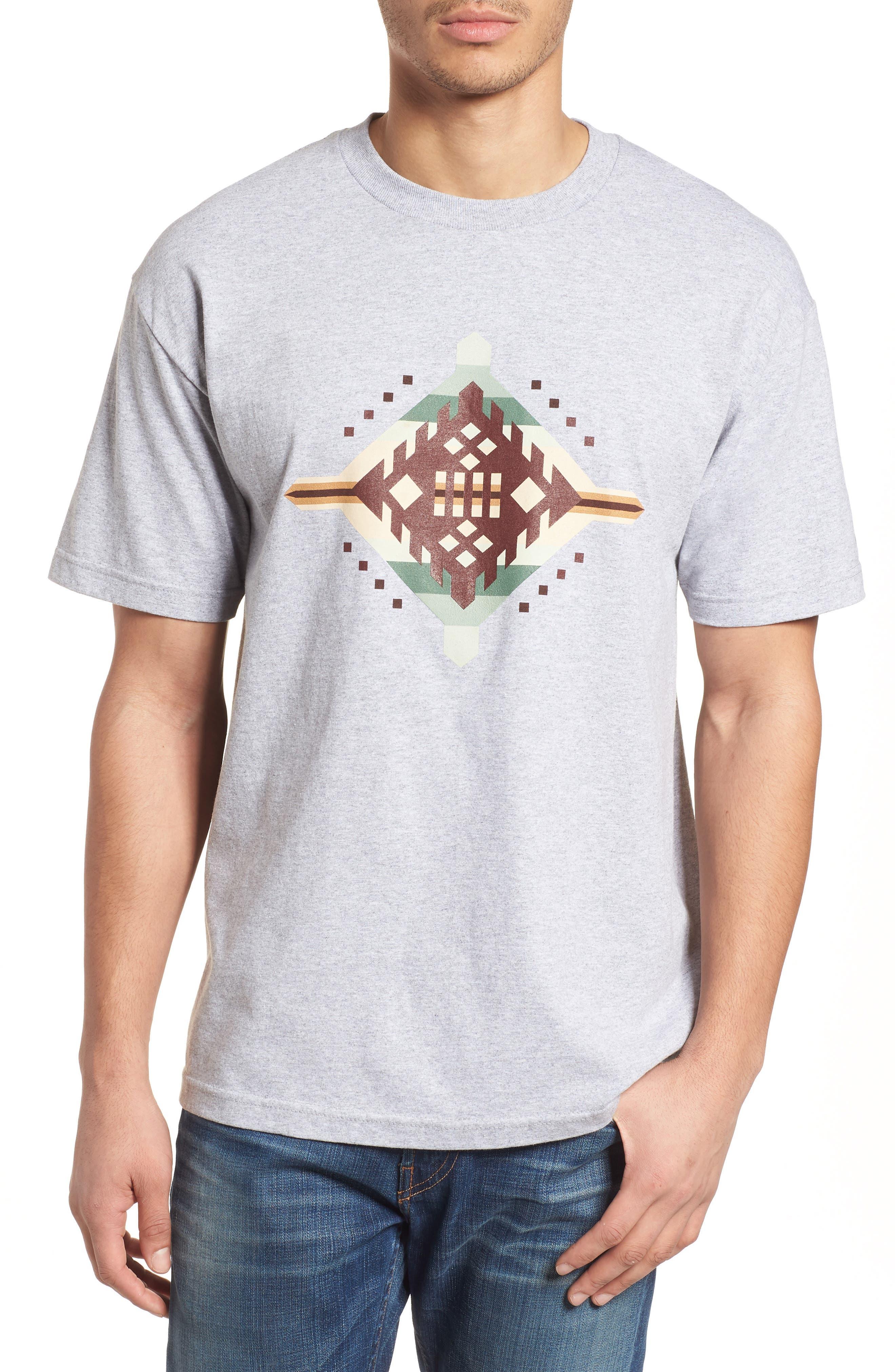 Crewneck T-Shirt,                         Main,                         color, Gray Mesquite Canyon