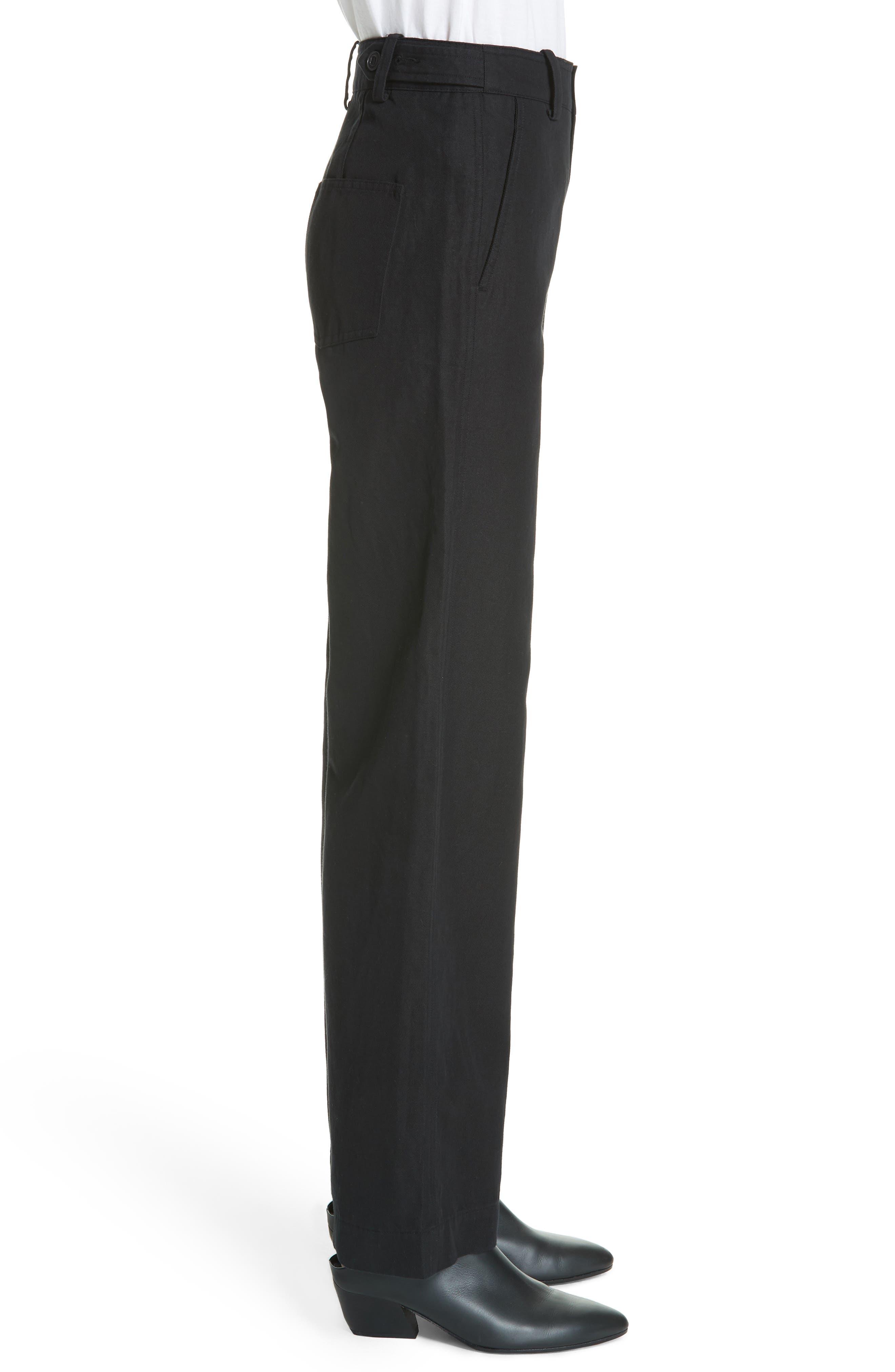 Alternate Image 3  - Vince High Rise Linen Blend Wide Leg Pants