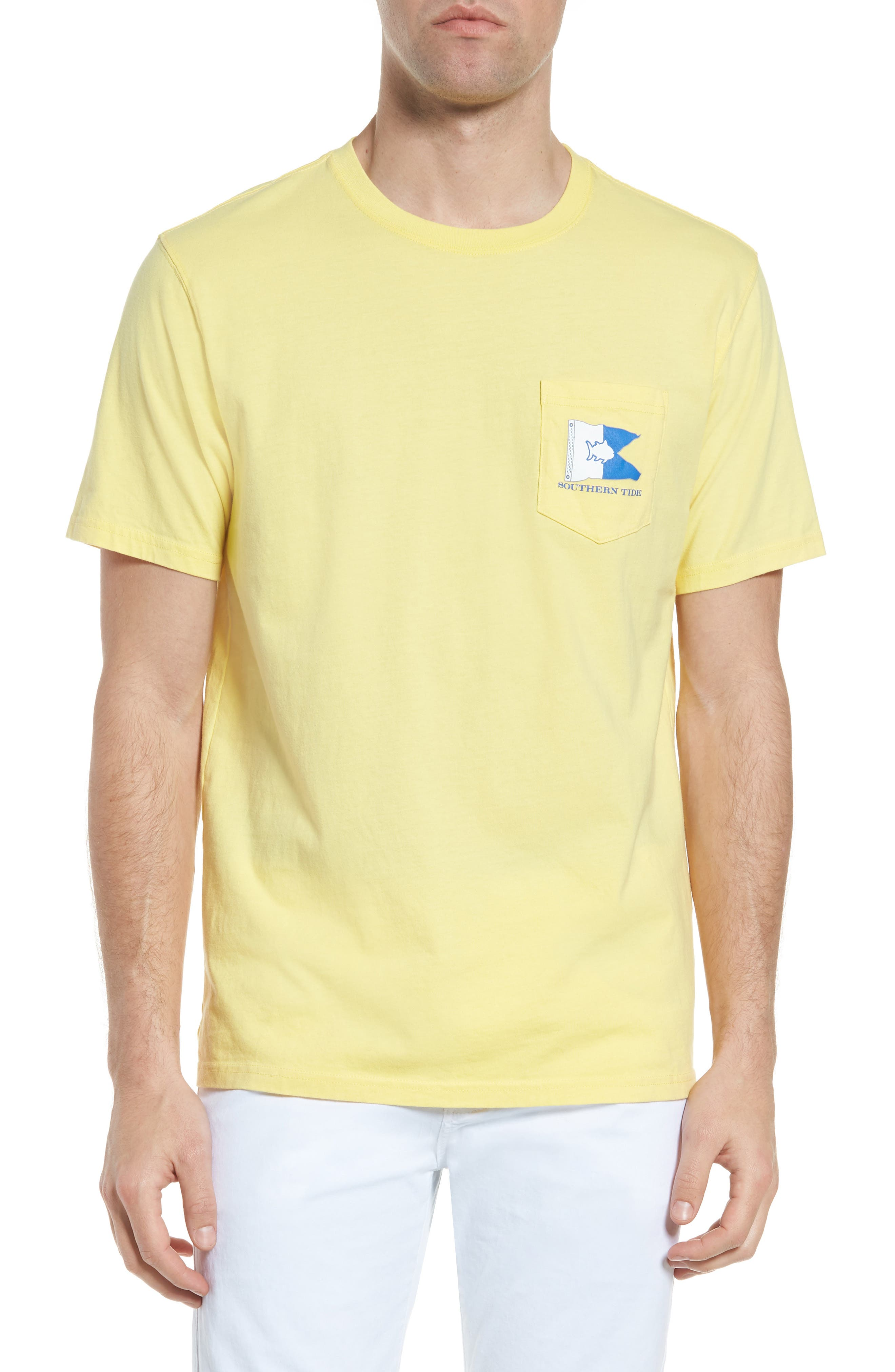 Alpha Up Crewneck T-Shirt,                         Main,                         color, Sunshine