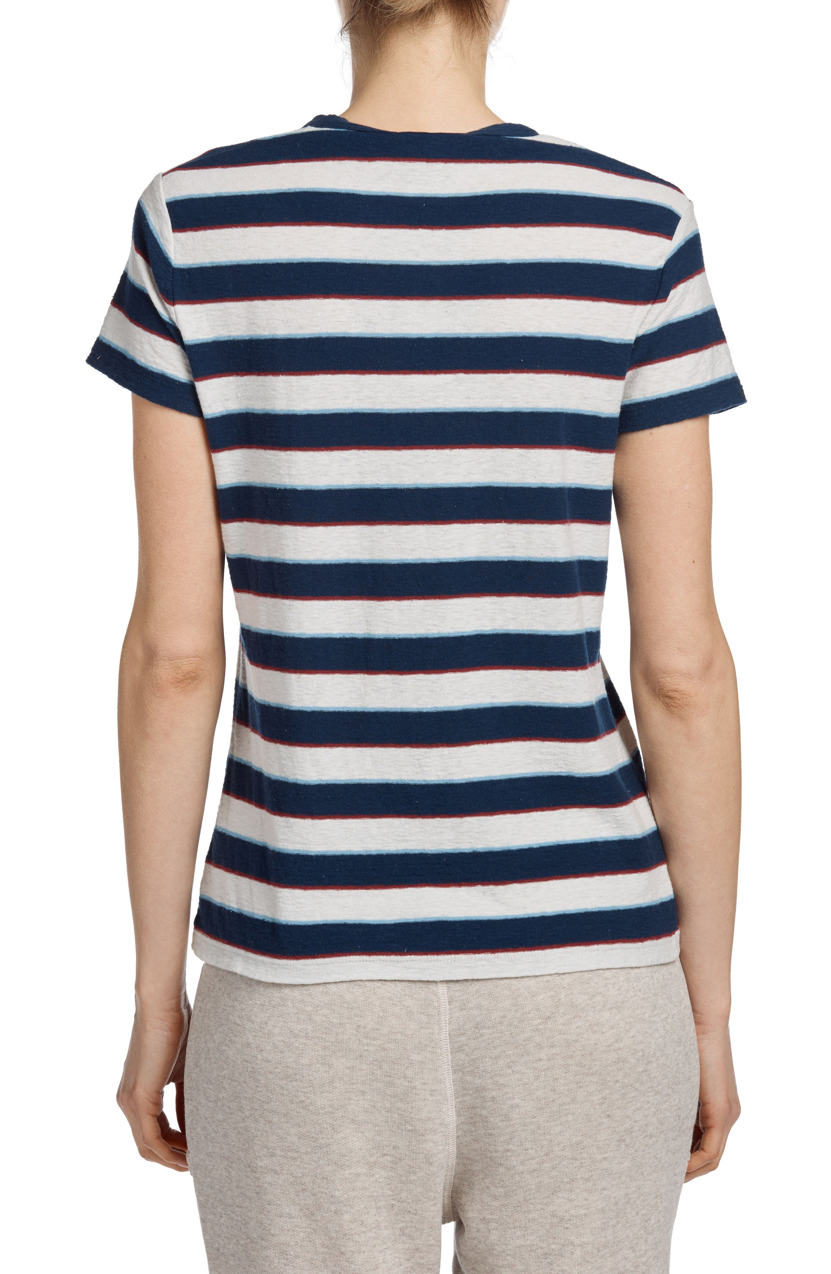 Shrunken Retro Tee,                             Alternate thumbnail 2, color,                             Navy Stripe