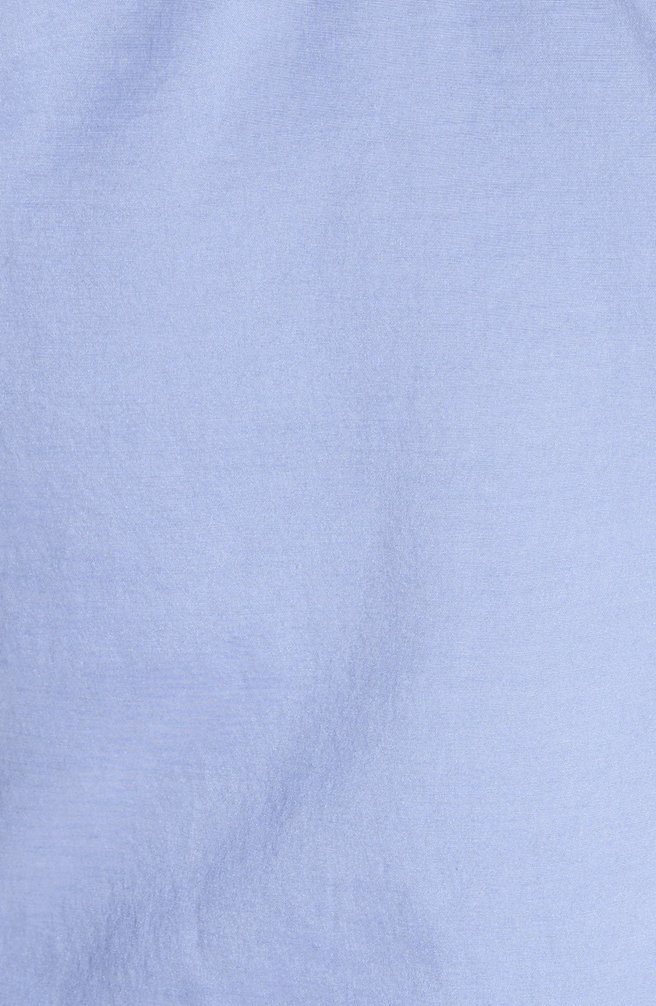 Frilled Stretch Silk Top,                             Alternate thumbnail 6, color,                             Periwinkle
