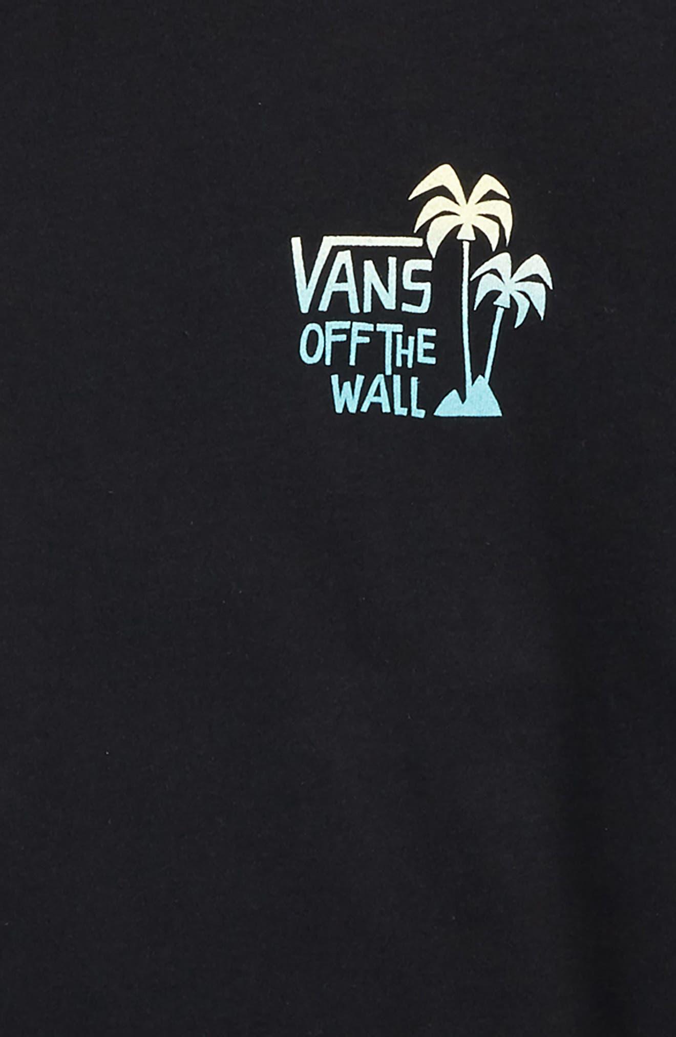 Yusuke Palm Graphic T-Shirt,                             Alternate thumbnail 2, color,                             Black