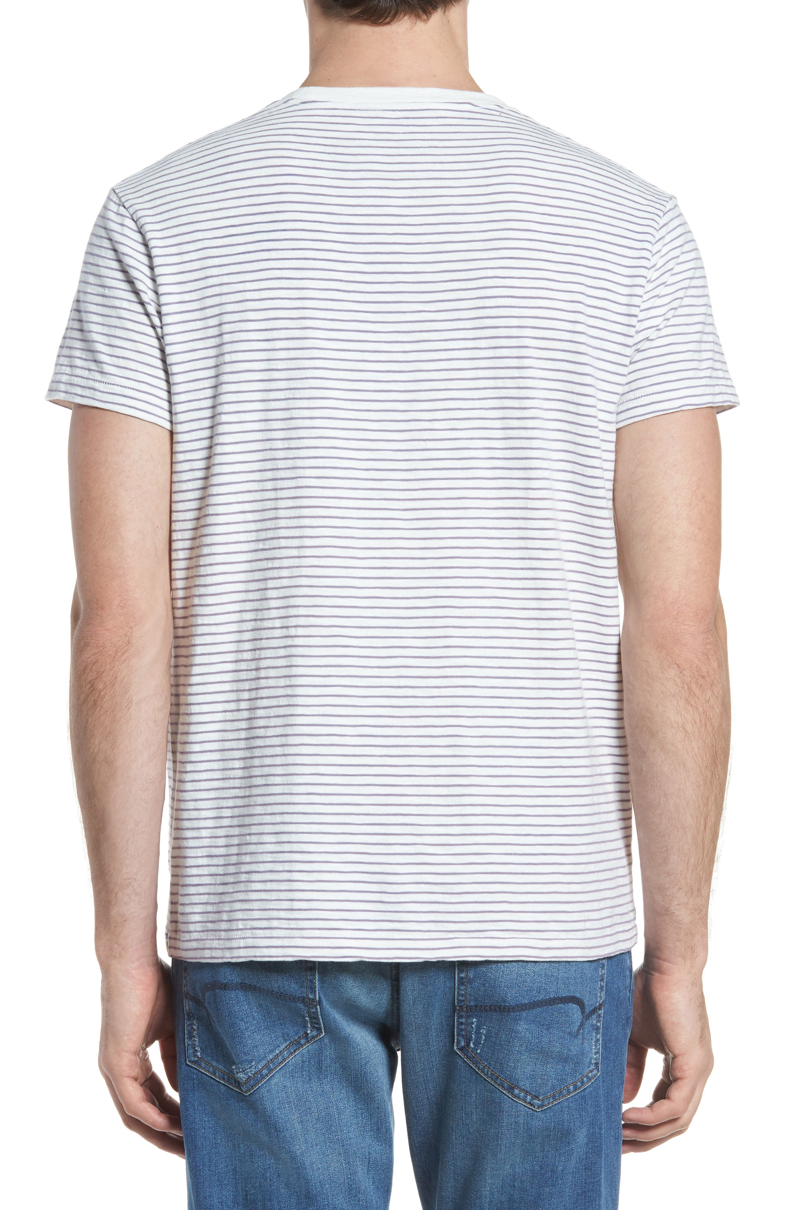 Malaga Cove Stripe T-Shirt,                             Alternate thumbnail 2, color,                             Antique White