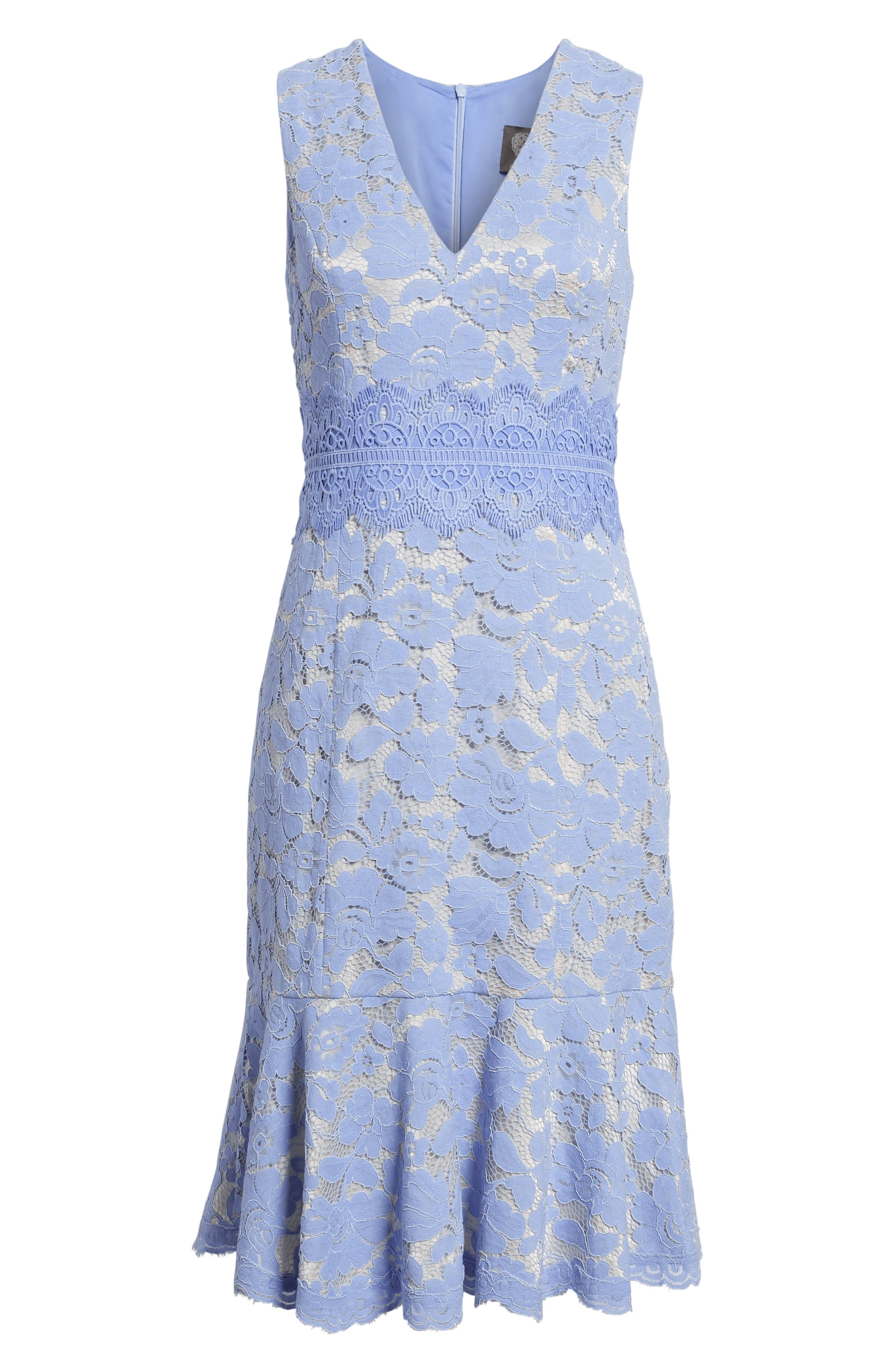 Alternate Image 6  - Vince Camuto Lace Sheath Dress (Regular & Petite)