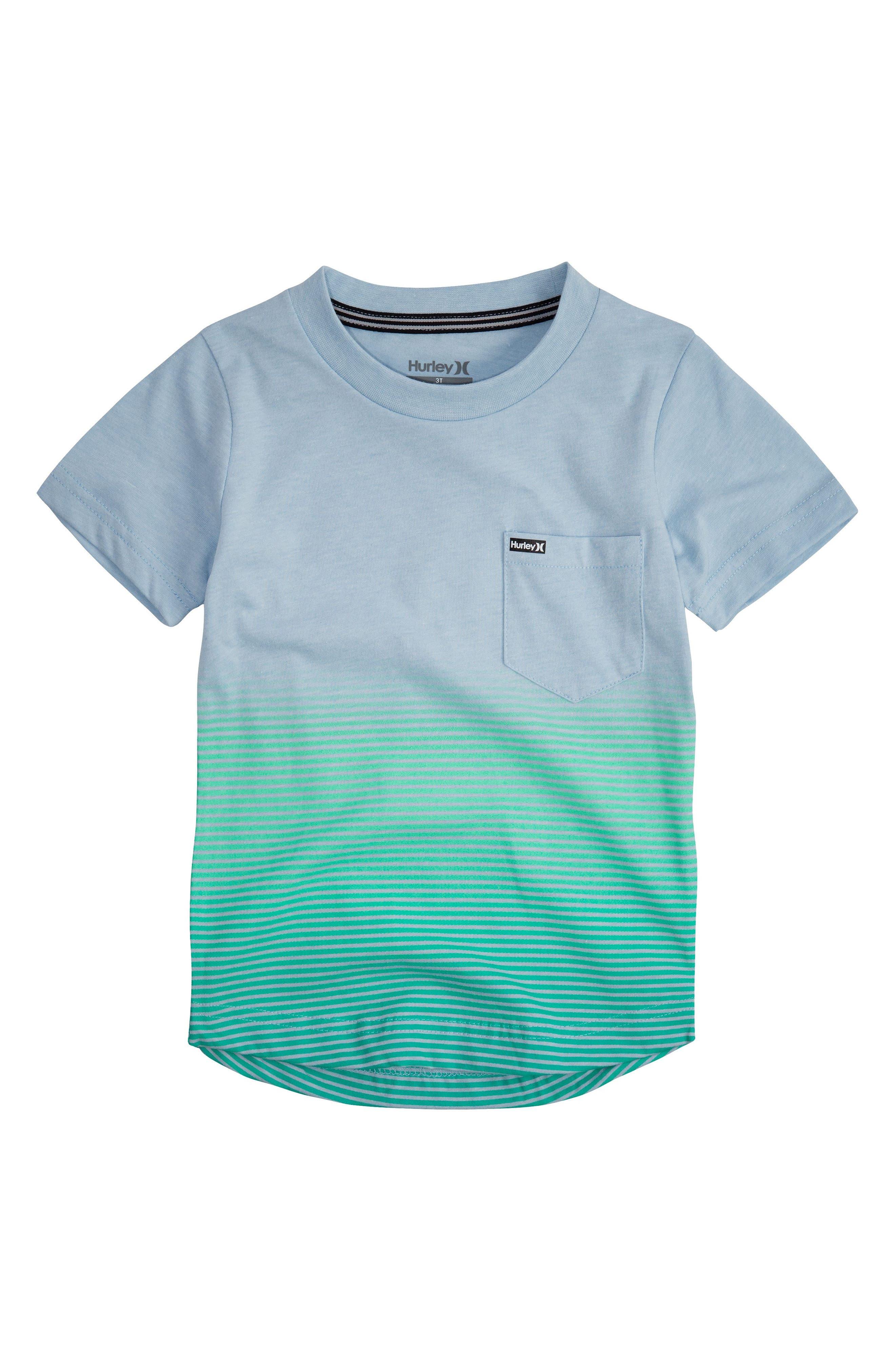 Hurley Ombré Stripe T Shirt Toddler Boys & Little Boys