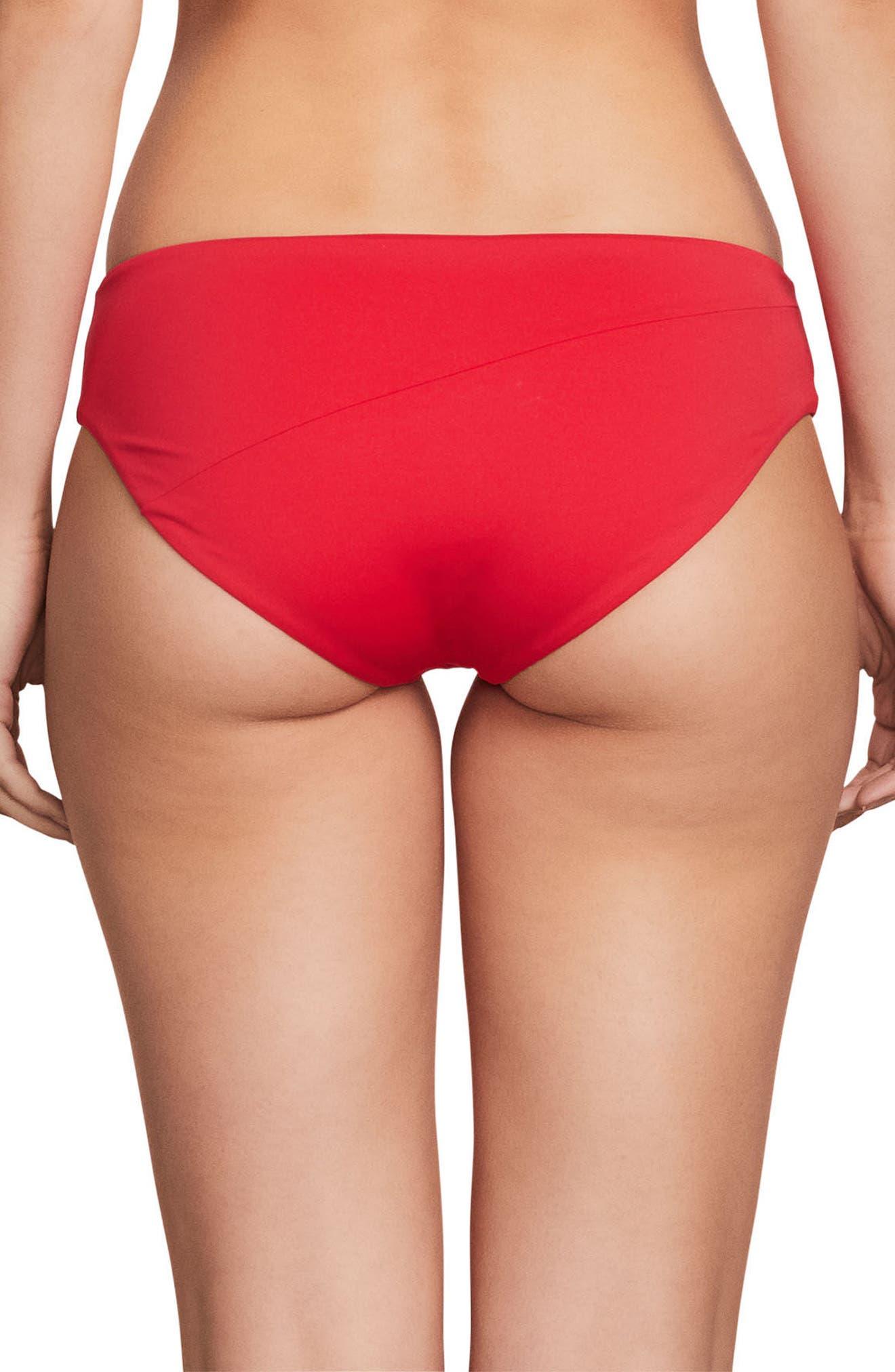 Simply Modest Bikini Bottoms,                             Alternate thumbnail 2, color,                             True Red