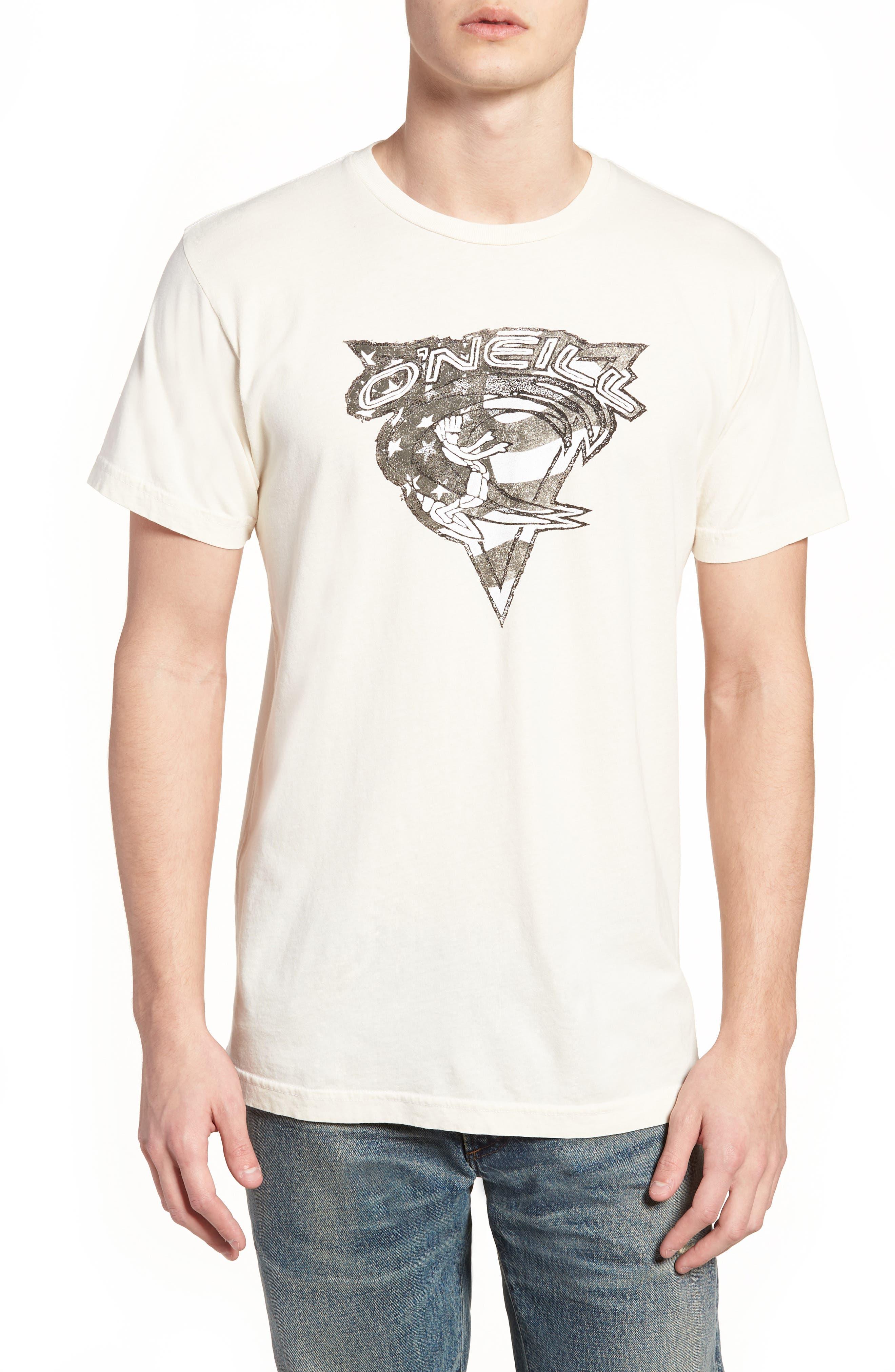 Patriot Graphic T-Shirt,                             Main thumbnail 1, color,                             Bone