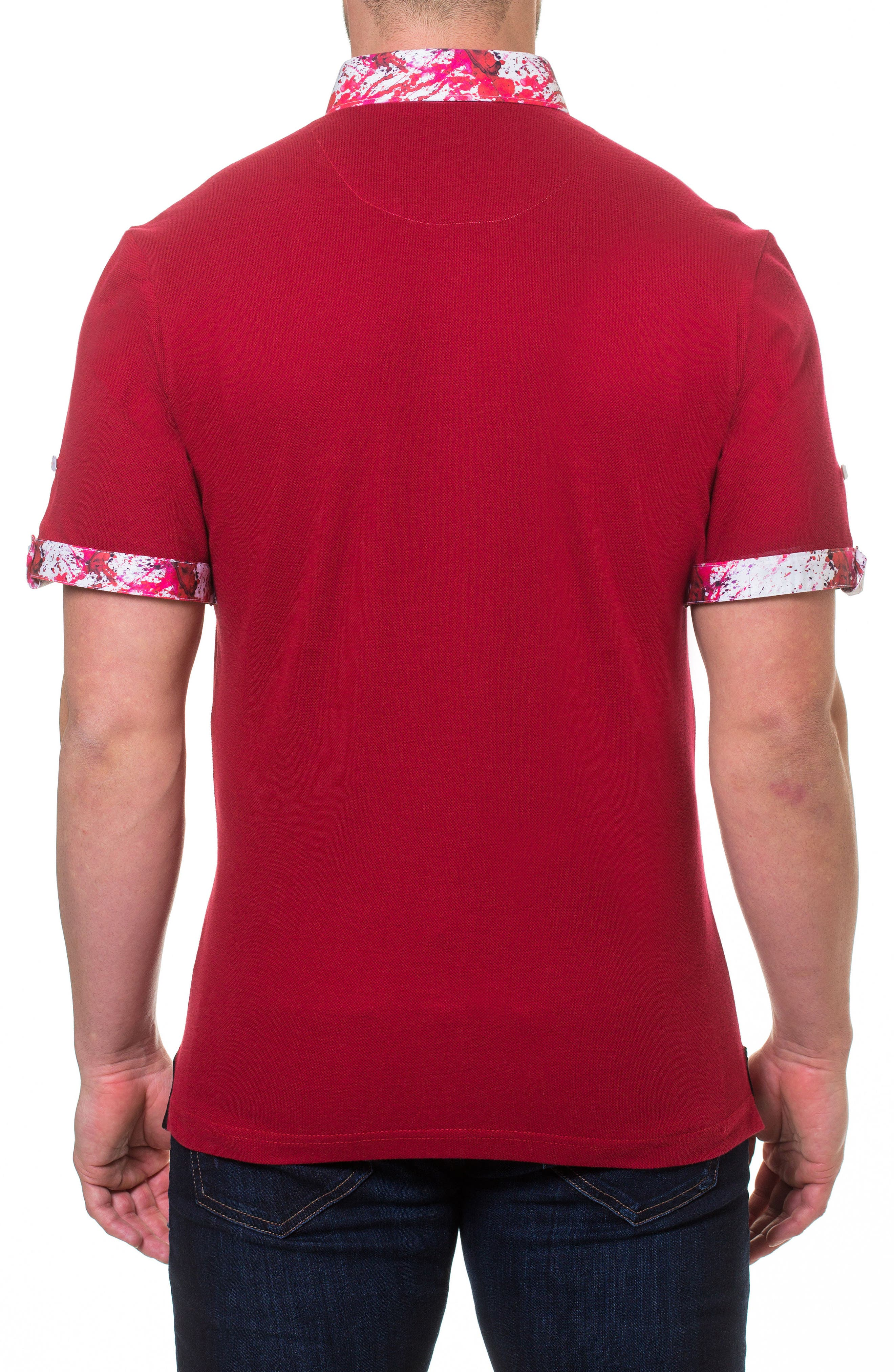 Polo,                             Alternate thumbnail 2, color,                             Red