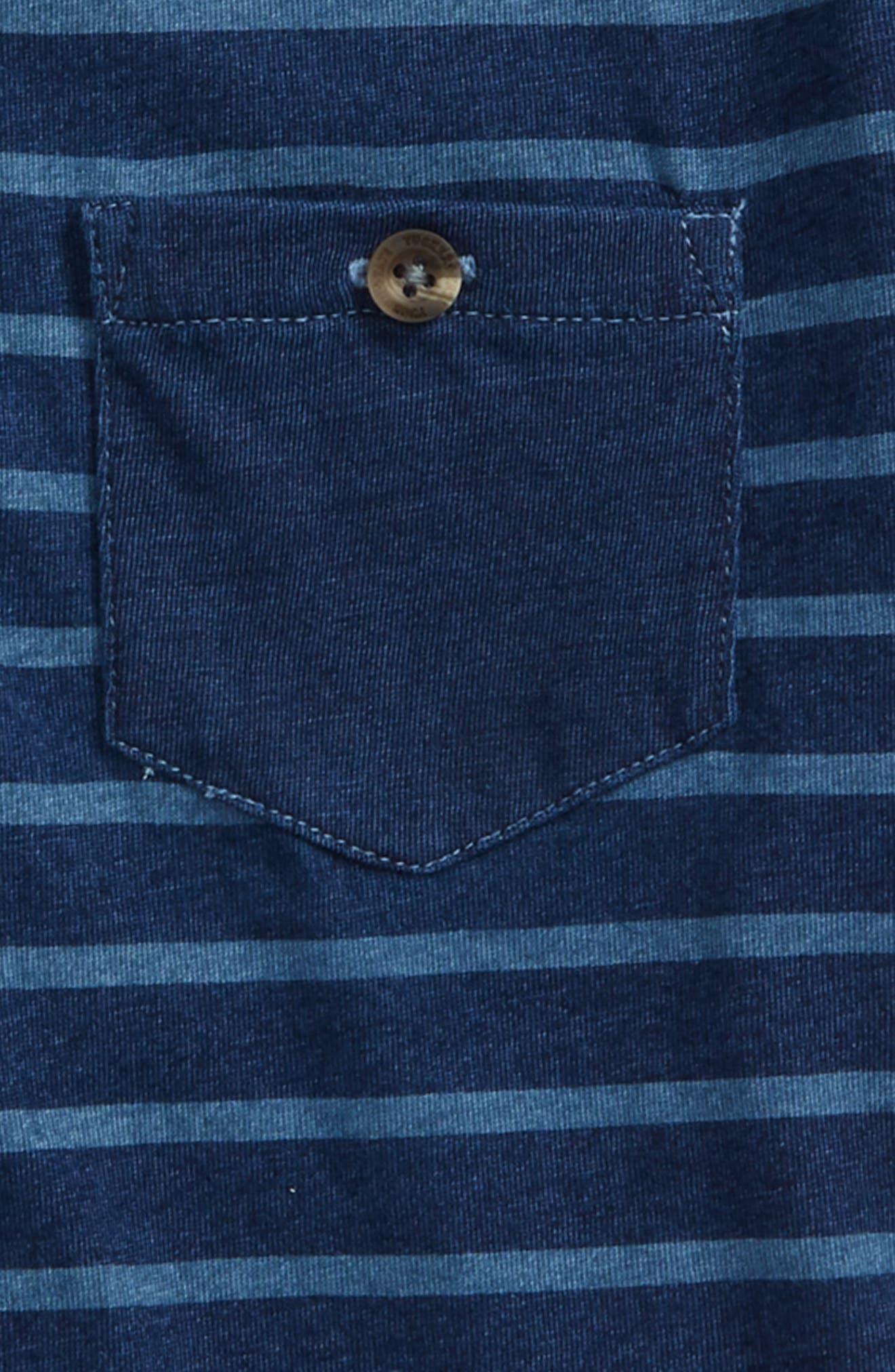 Stripe Polo,                             Alternate thumbnail 2, color,                             Navy Denim Stripe