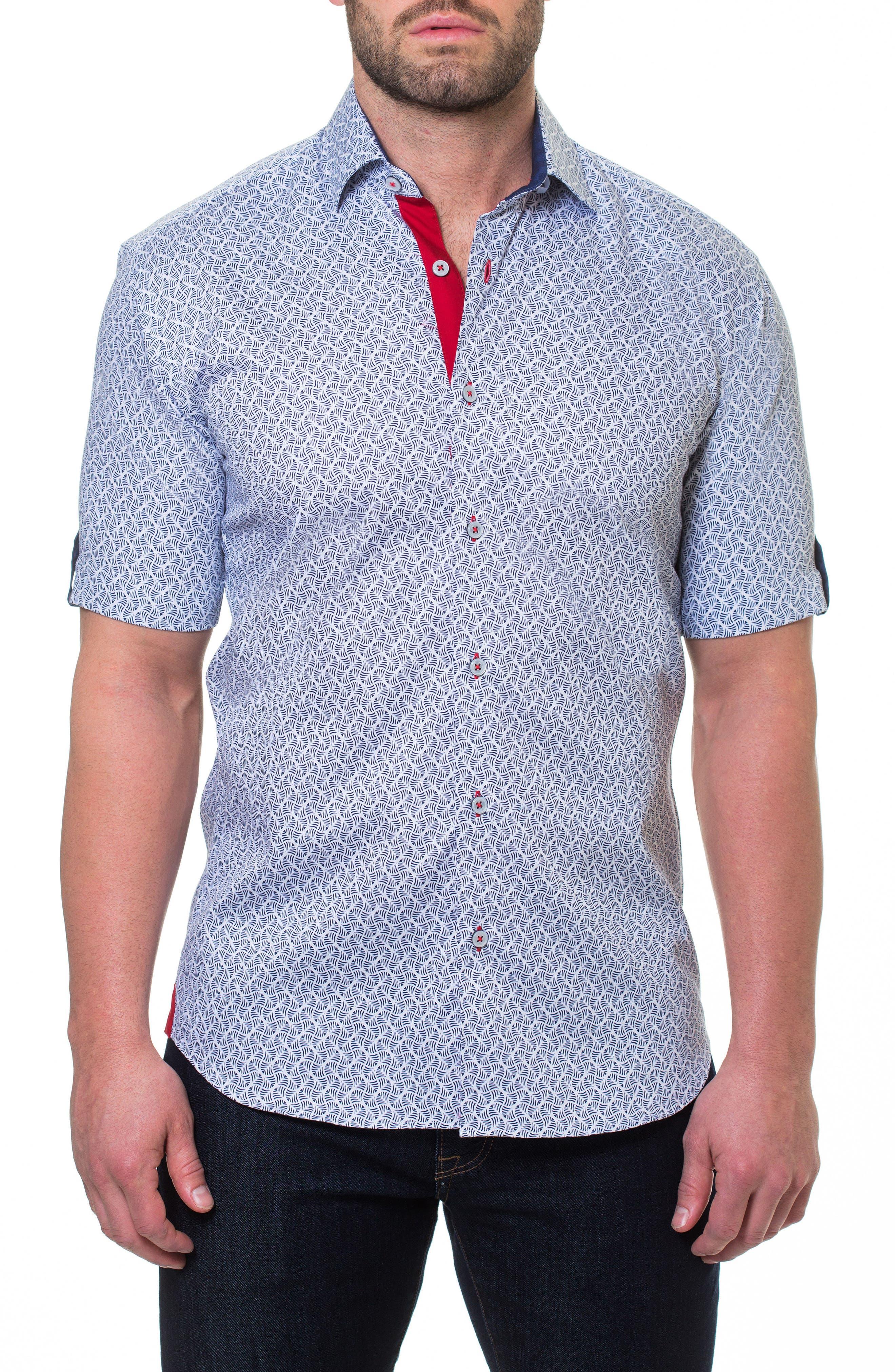 Fresh Ripple Sport Shirt,                             Main thumbnail 1, color,                             Grey