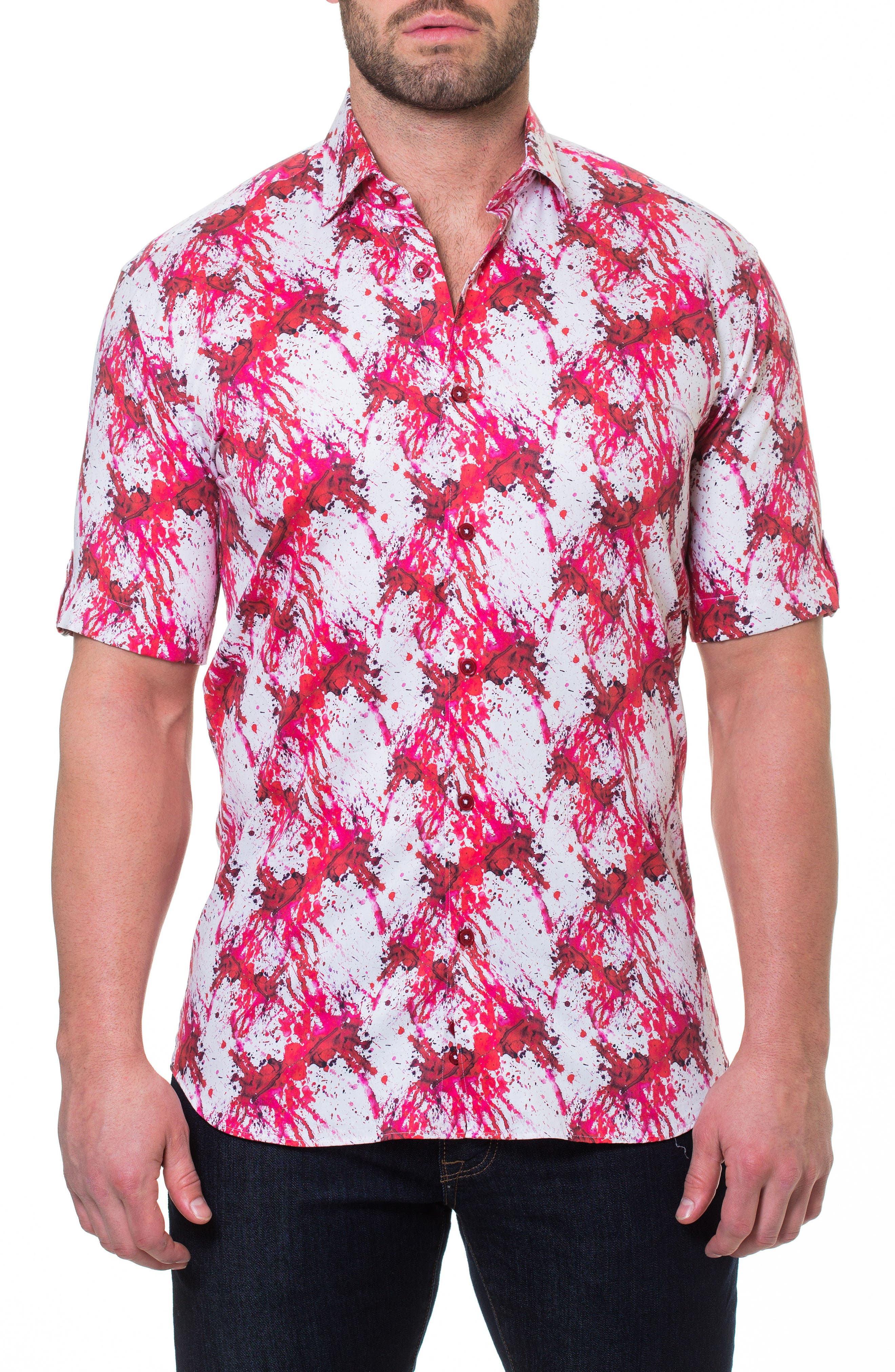 Fresh Dexter Sport Shirt,                             Main thumbnail 1, color,                             Red