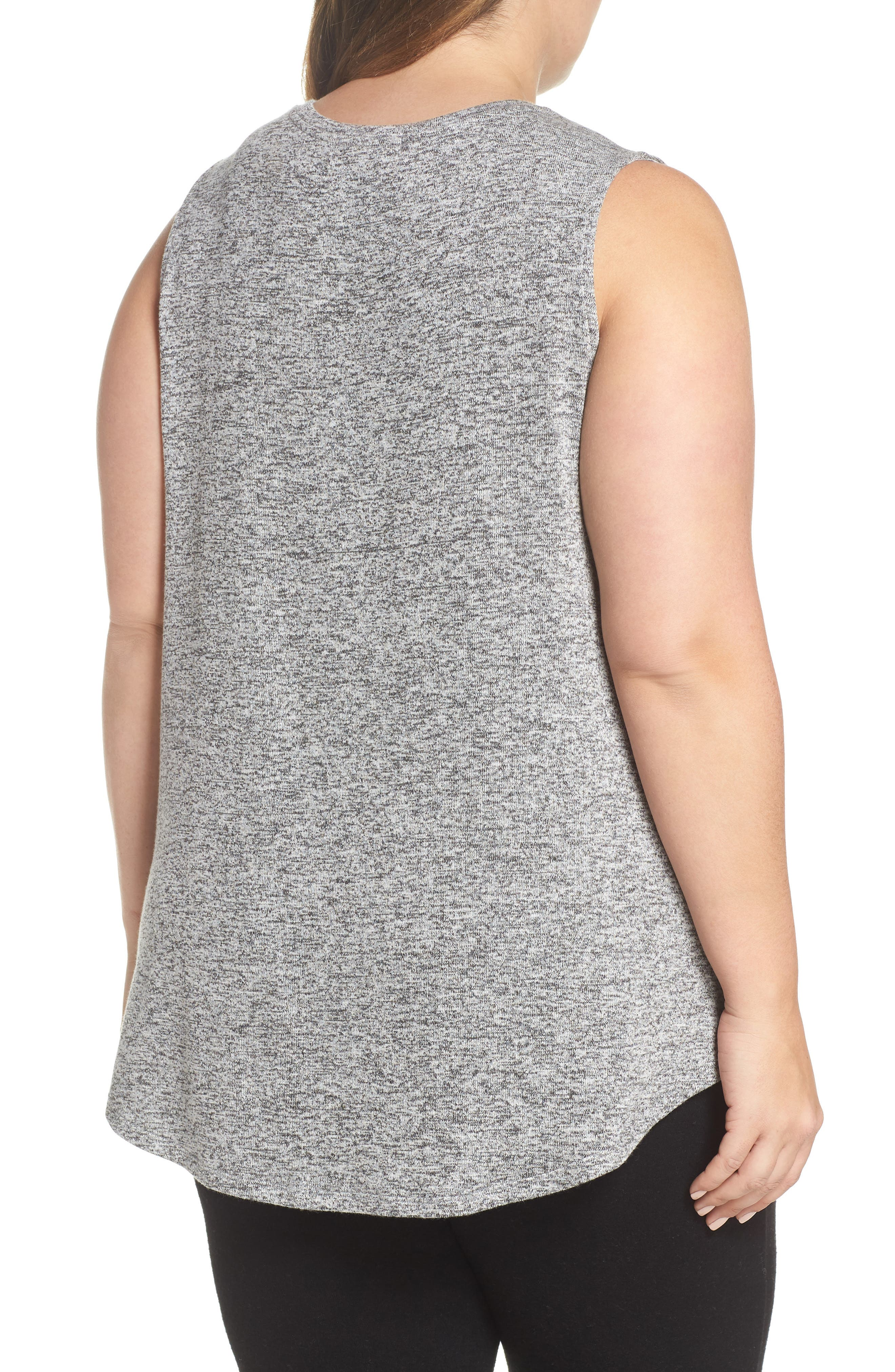 x Living in Yellow Millie Muscle Tank,                             Alternate thumbnail 3, color,                             Heather Grey Marled
