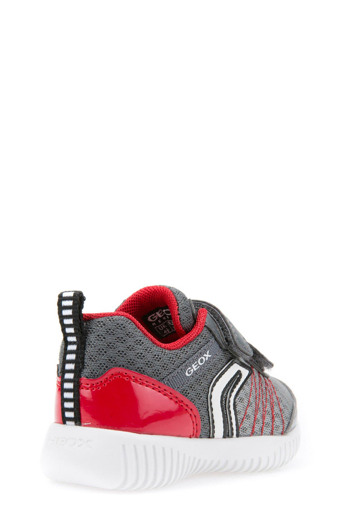Waviness Sneaker,                             Alternate thumbnail 2, color,                             Grey/ Red