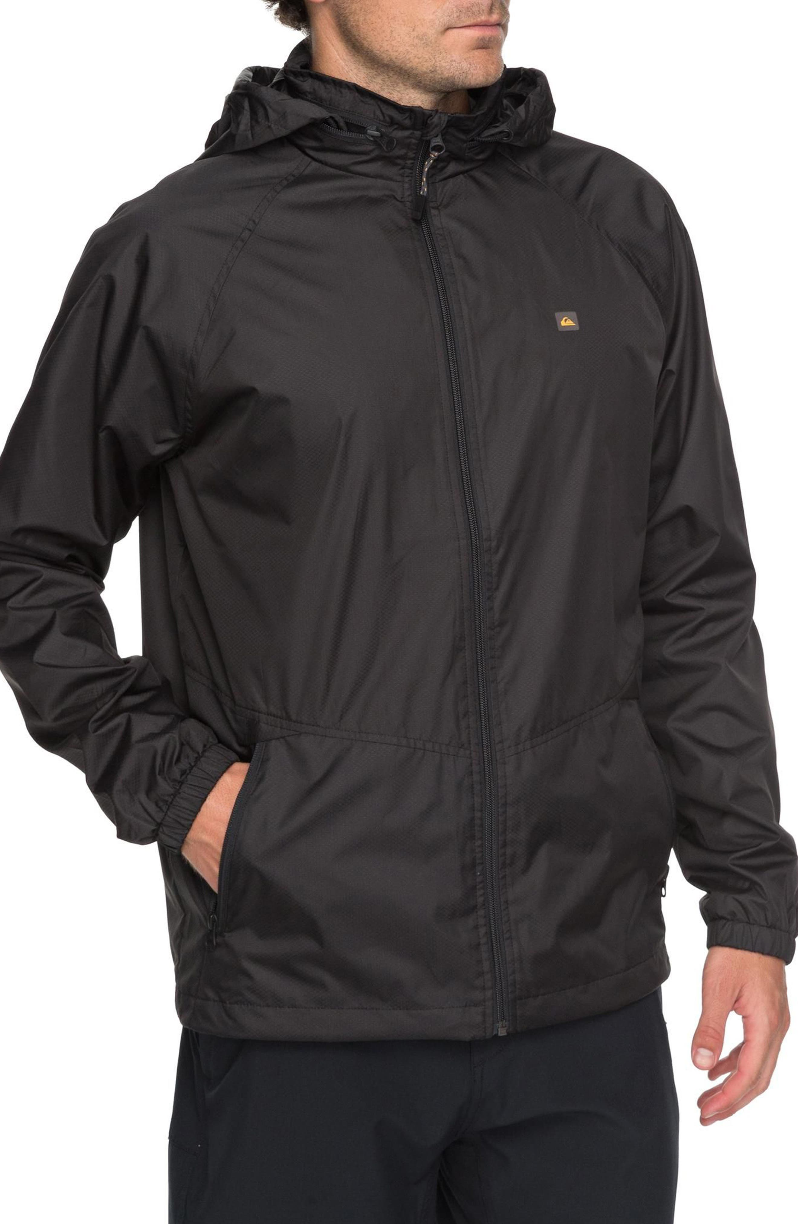 Shell Shock Water Repellent Windbreaker,                             Alternate thumbnail 3, color,                             Black