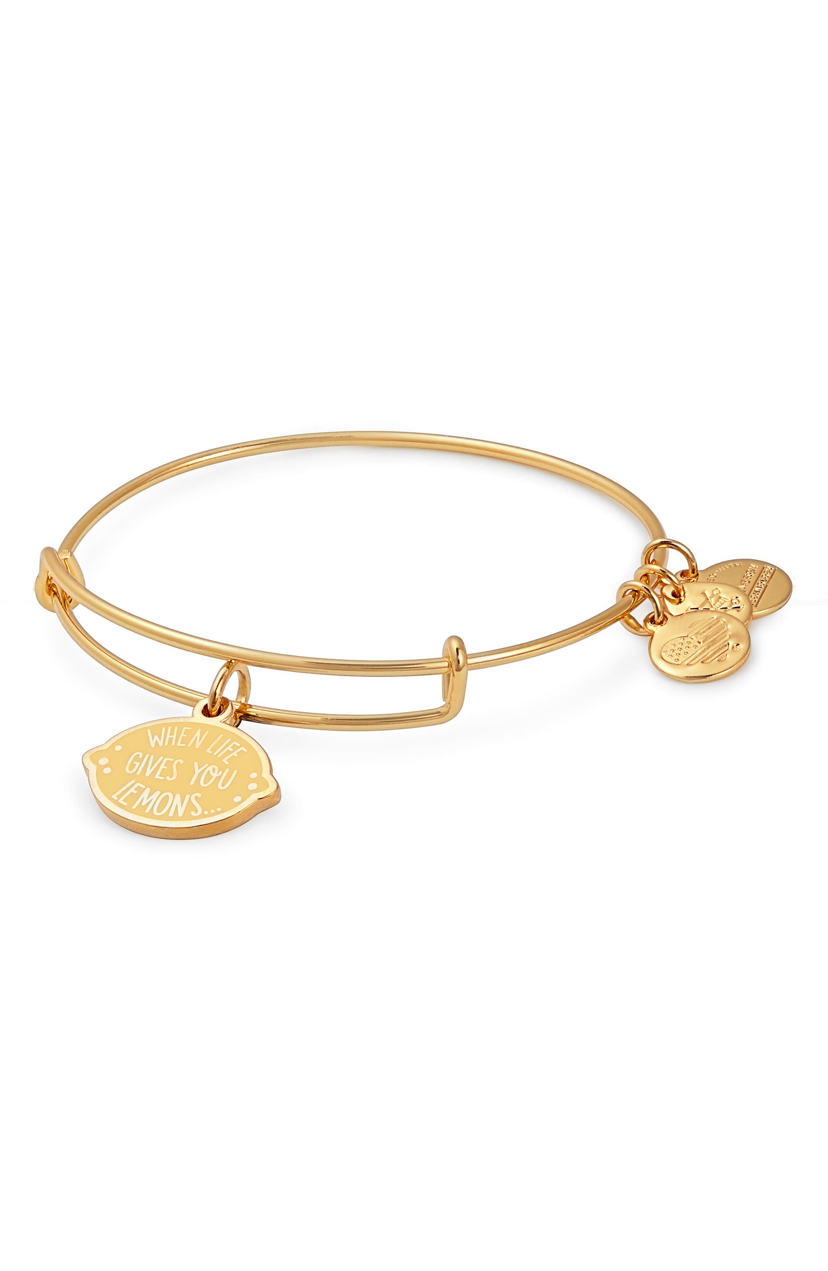 Charity by Design When Life Gives You Lemons Charm Bracelet,                             Main thumbnail 1, color,                             Gold
