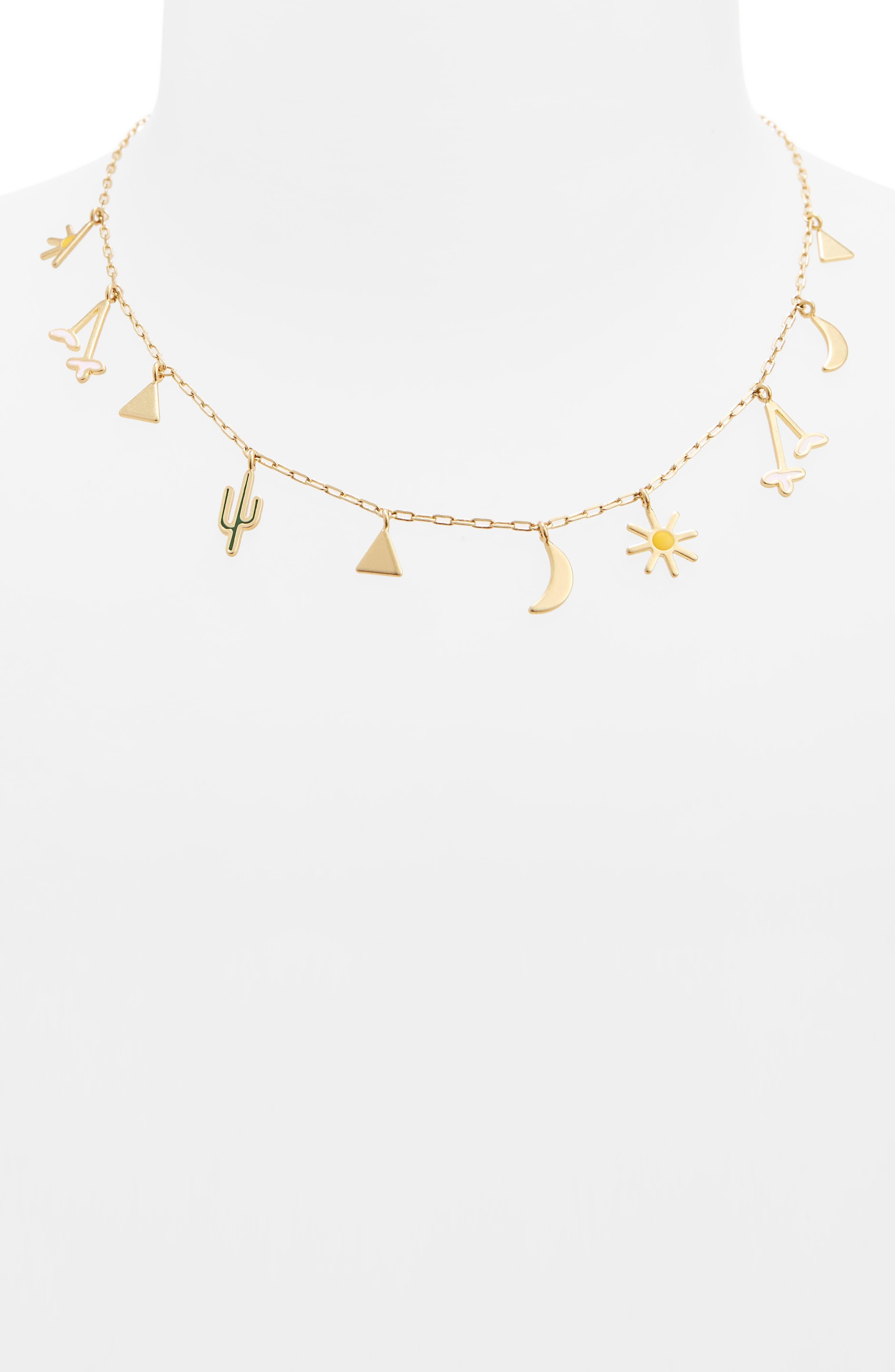 Primal Charm Necklace,                             Alternate thumbnail 2, color,                             Vintage Gold