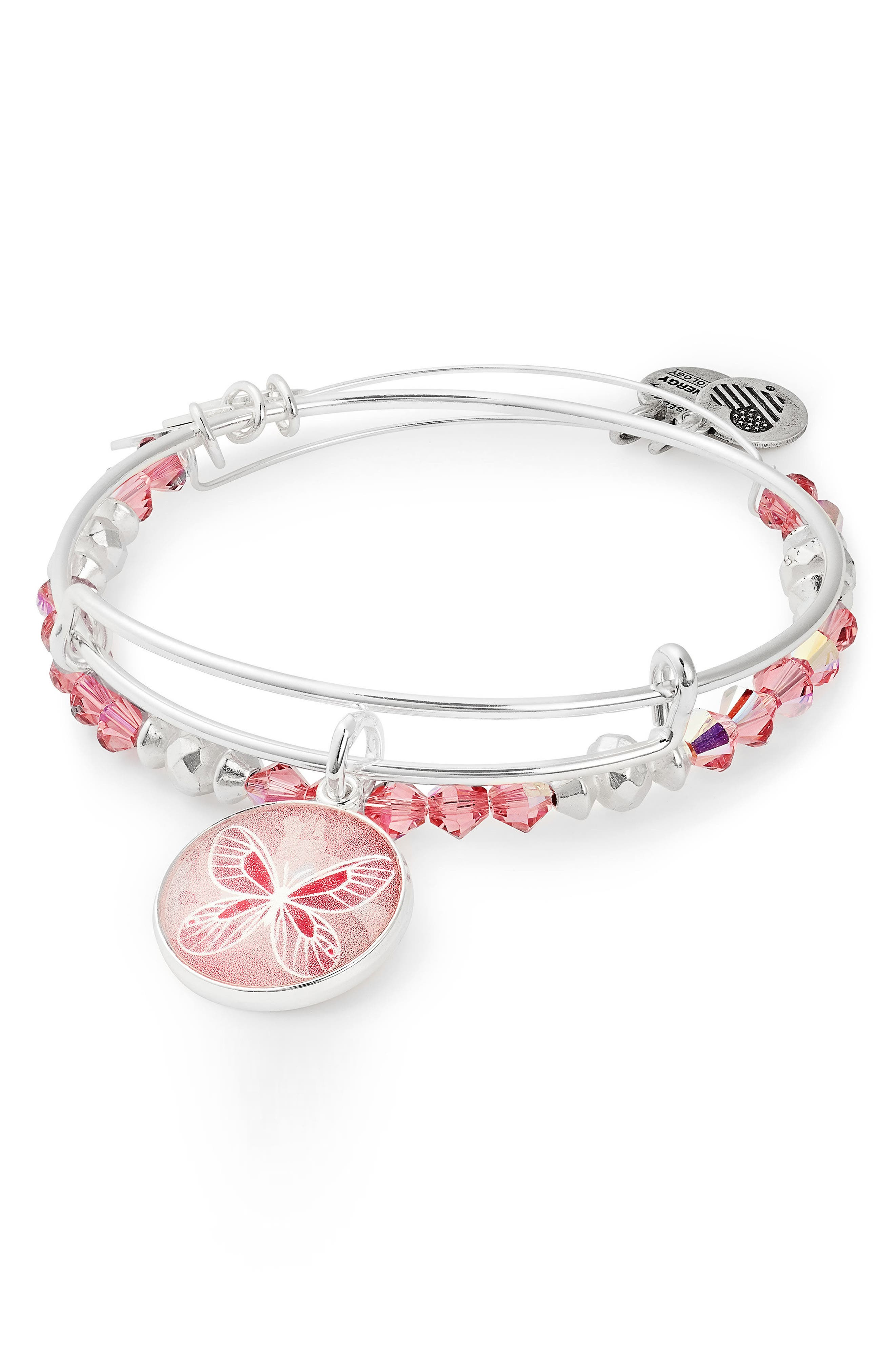 Alternate Image 1 Selected - Alex and Ani Set of 2 Art Infusion Butterfly Bracelets