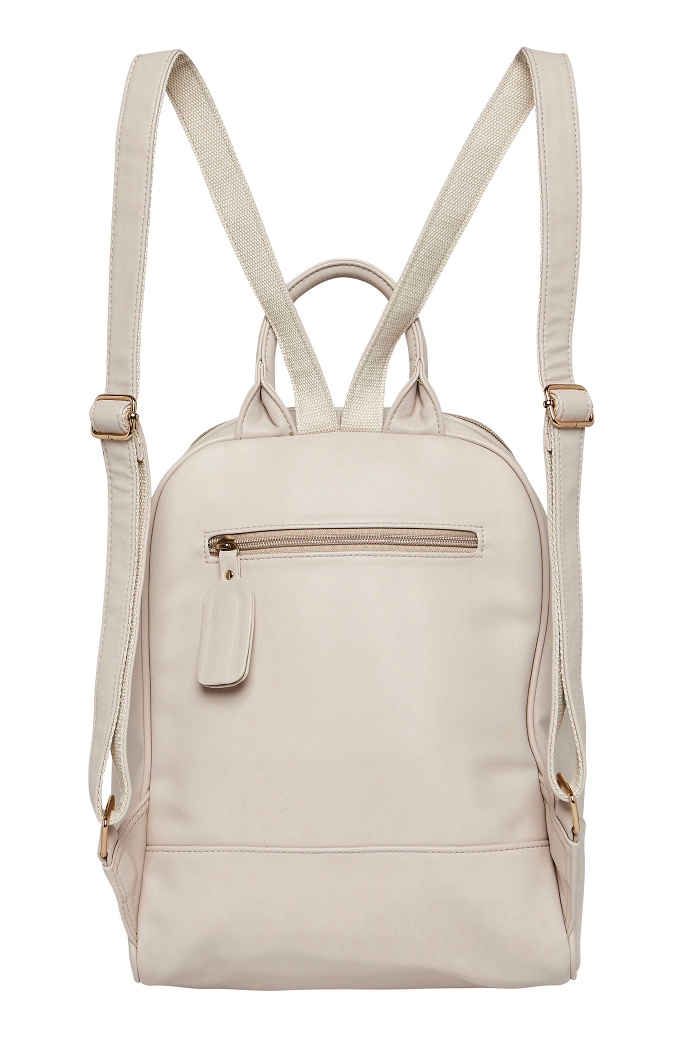 Evolution Vegan Leather Backpack,                             Alternate thumbnail 2, color,                             White