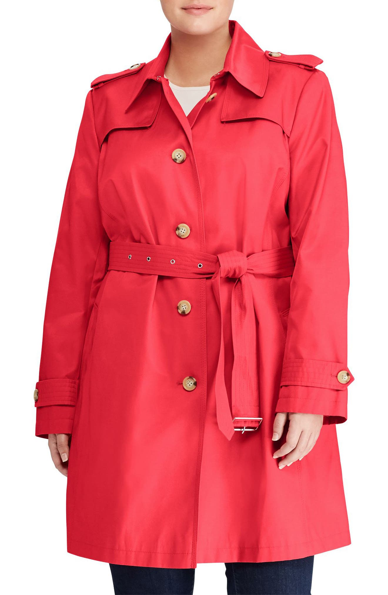 Trench Coat,                         Main,                         color, Rosewood