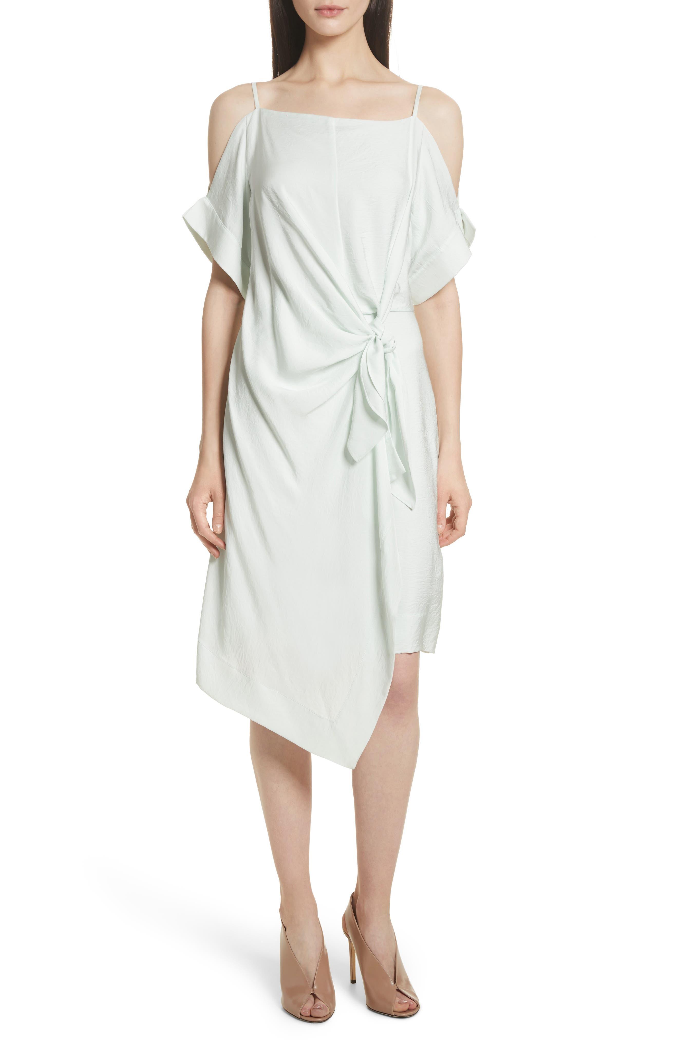 GREY Jason Wu Tie Front Cold Shoulder Dress