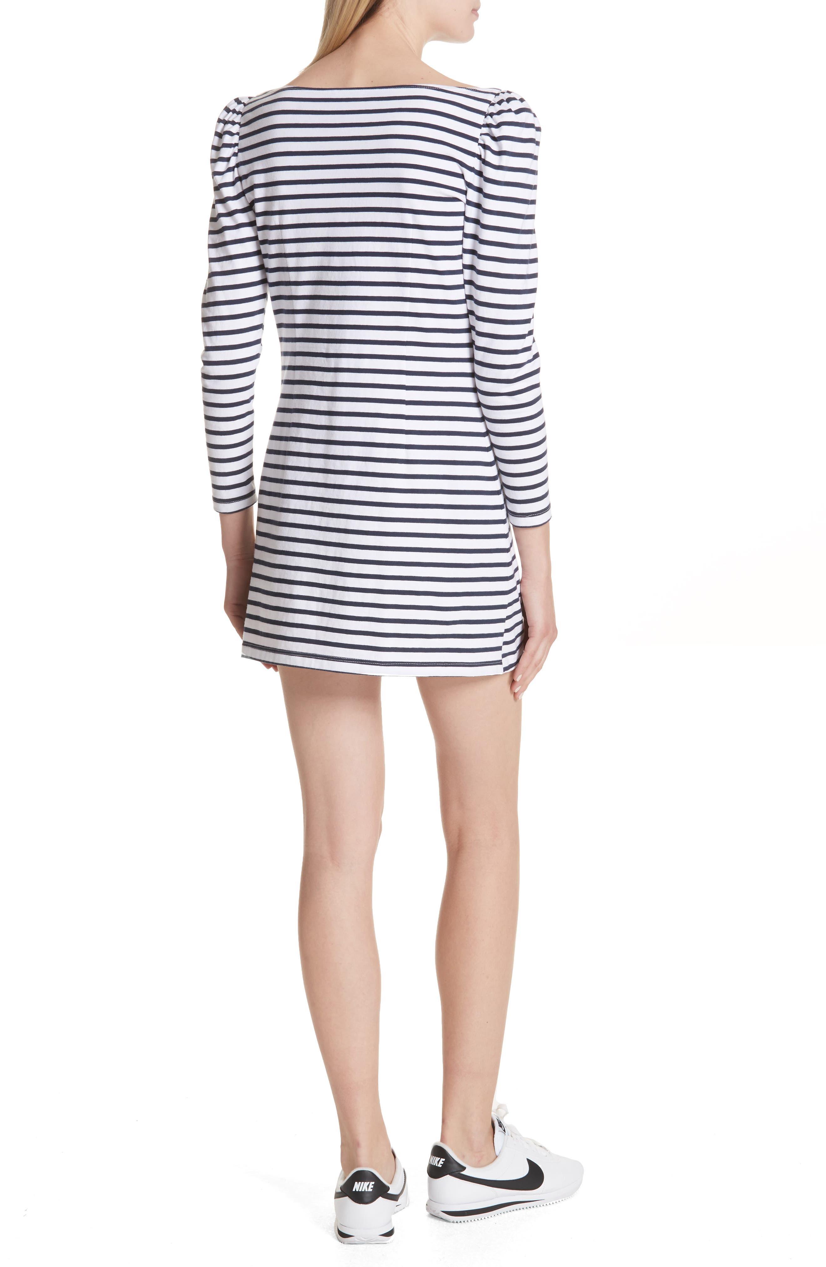 Stevens Stripe Dress,                             Alternate thumbnail 2, color,                             Midnight