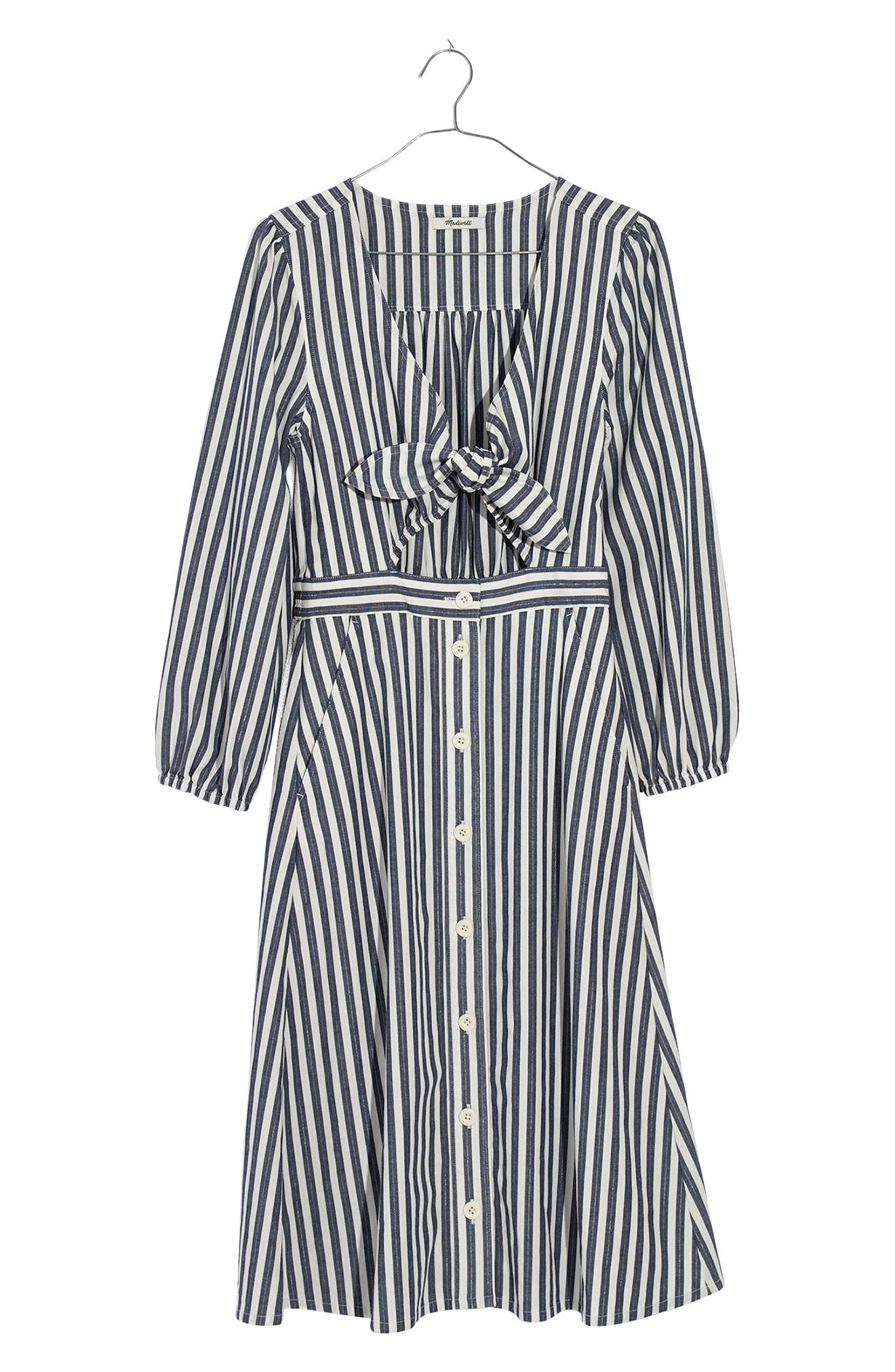 Shimmer Stripe Cutout Midi Dress,                             Alternate thumbnail 3, color,                             Amelia Stripe