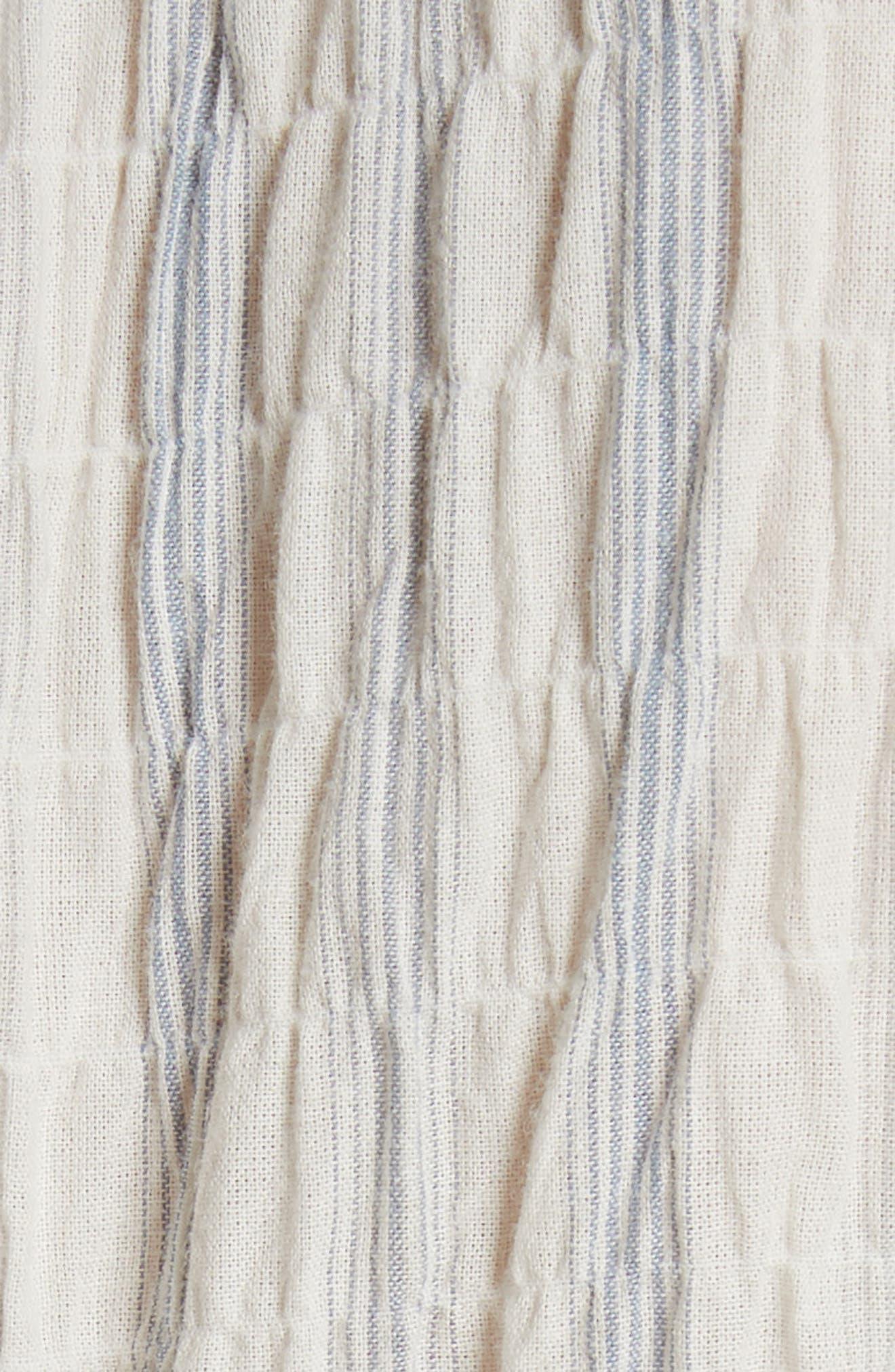 Ruffled Stripe Top,                             Alternate thumbnail 5, color,                             Snow Combo