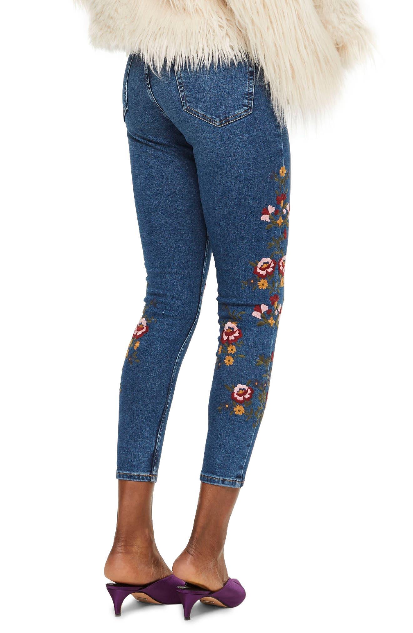 Jamie Ditsy Floral Jeans,                             Alternate thumbnail 2, color,                             Mid Denim Multi