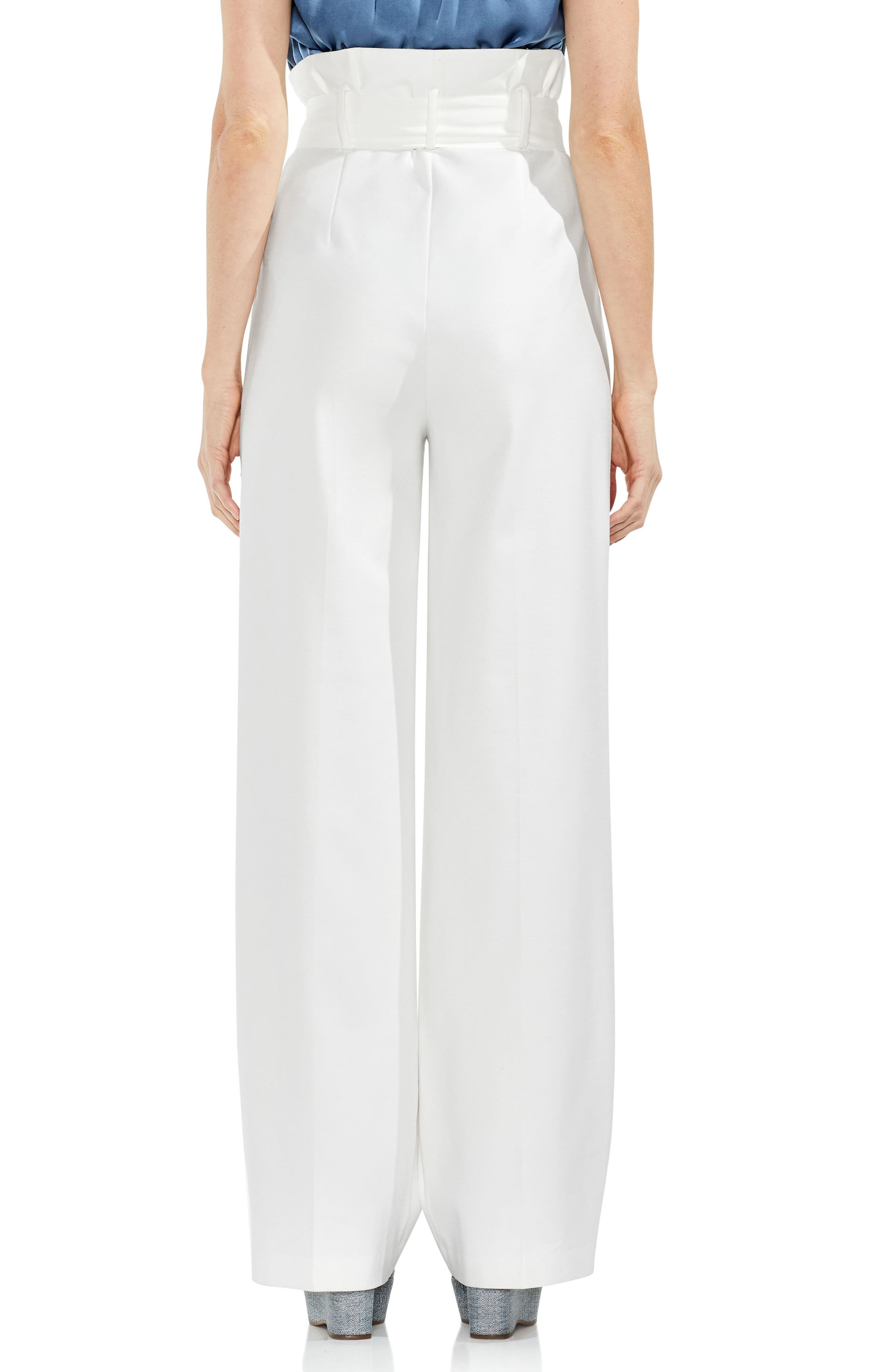 Wide Leg Belted Pants,                             Alternate thumbnail 2, color,                             New Ivory